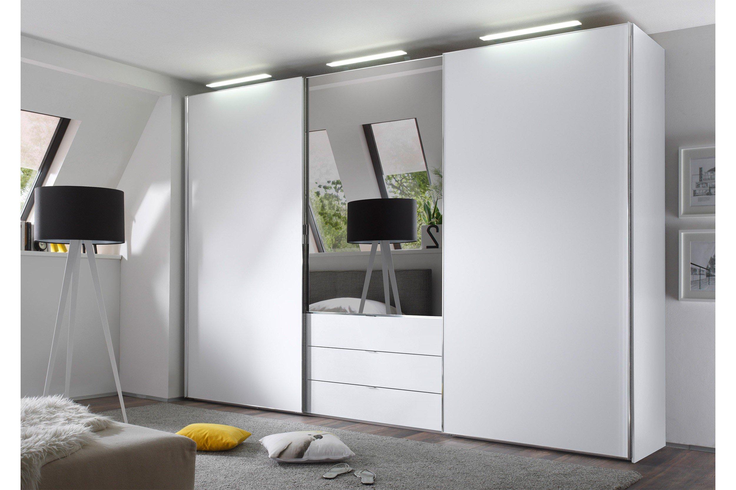 staud media light kleiderschrank wei spiegel m bel letz ihr online shop. Black Bedroom Furniture Sets. Home Design Ideas