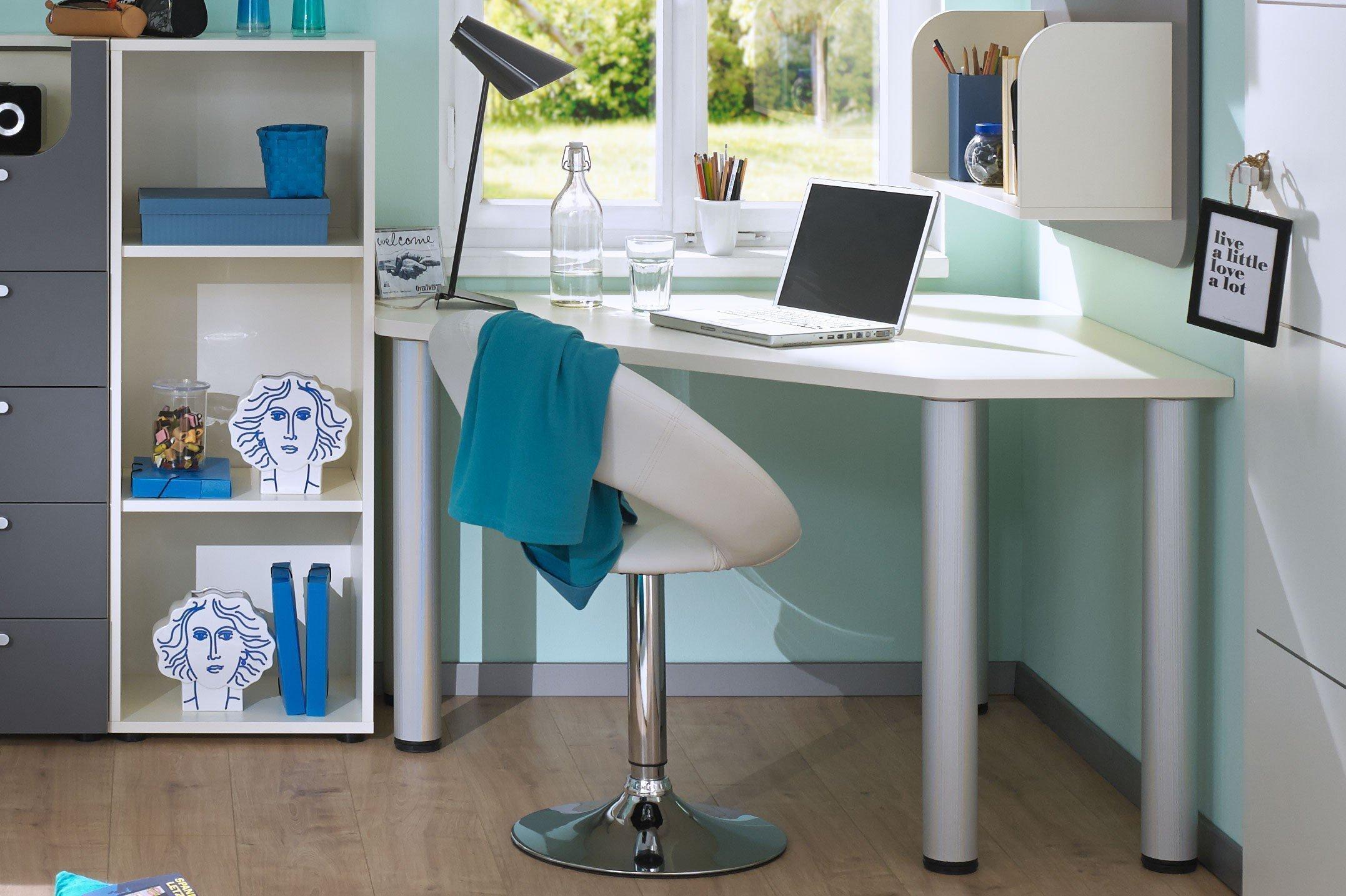 rudolf max i eckschreibtisch mt5 cremewei m bel letz ihr online shop. Black Bedroom Furniture Sets. Home Design Ideas