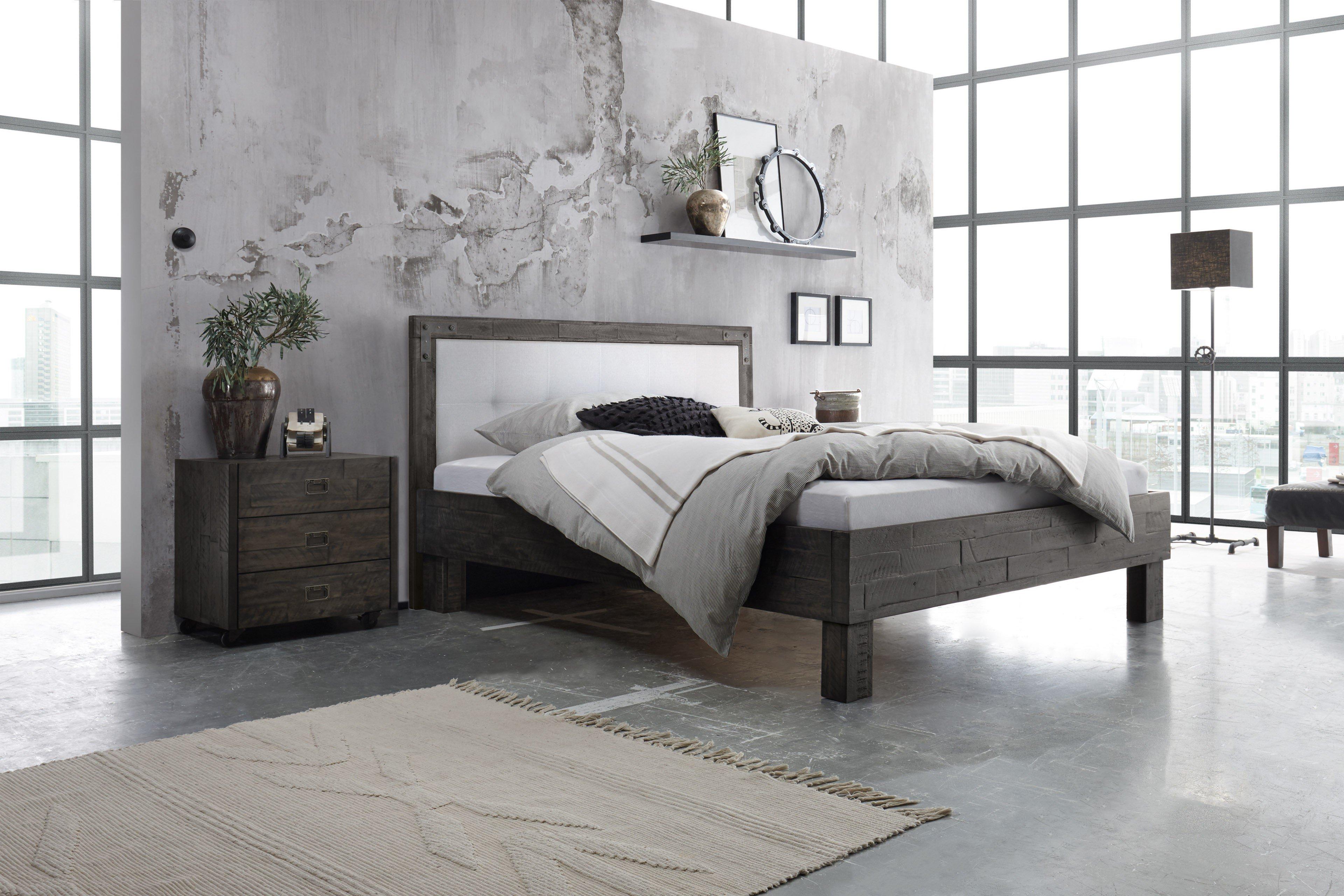 hasena factory b holz bett akazie grau wei m bel letz ihr online shop. Black Bedroom Furniture Sets. Home Design Ideas