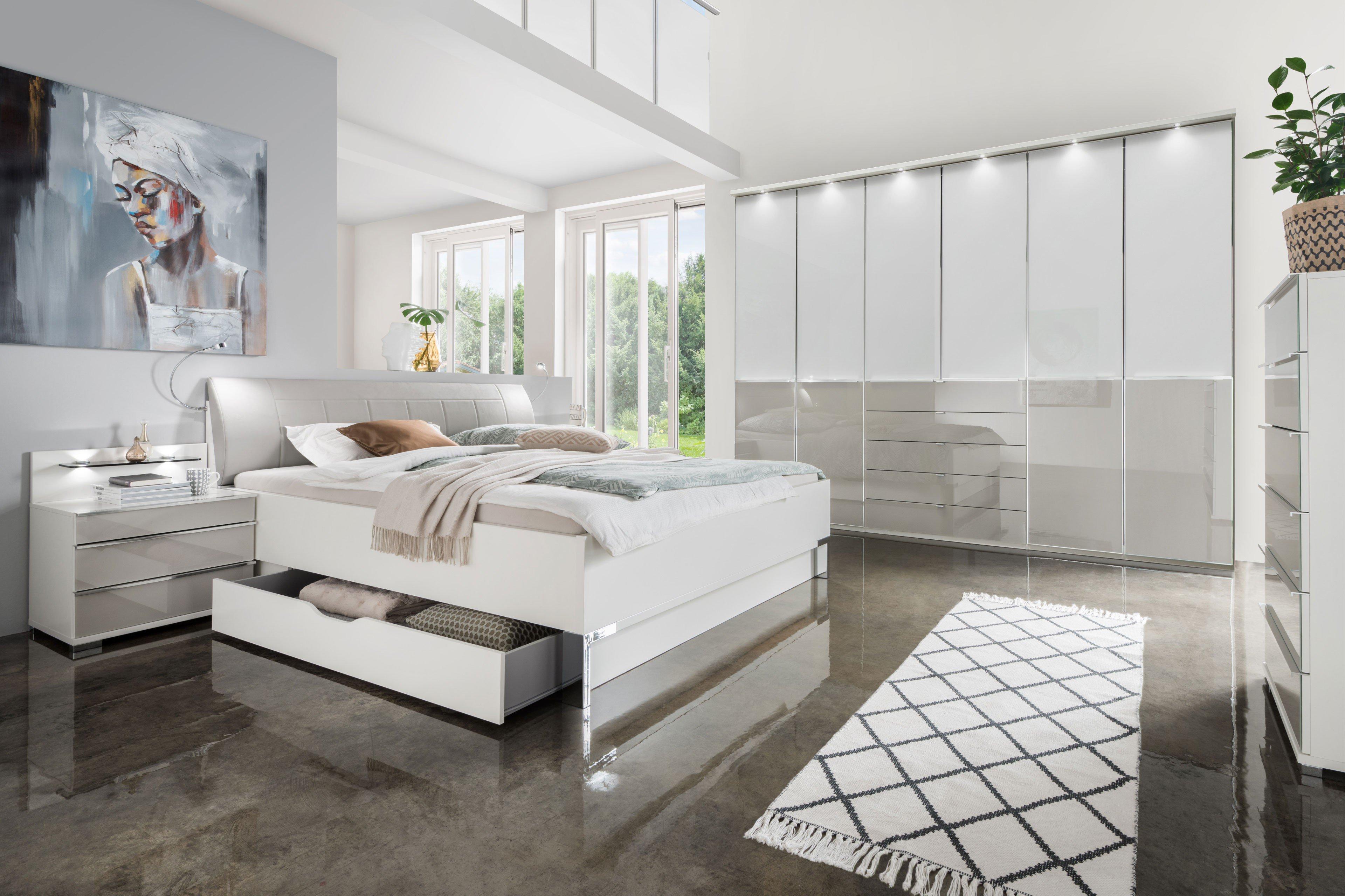 Wiemann Schlafzimmer Shanghai 2 weiß - kieselgrau | Möbel Letz - Ihr ...