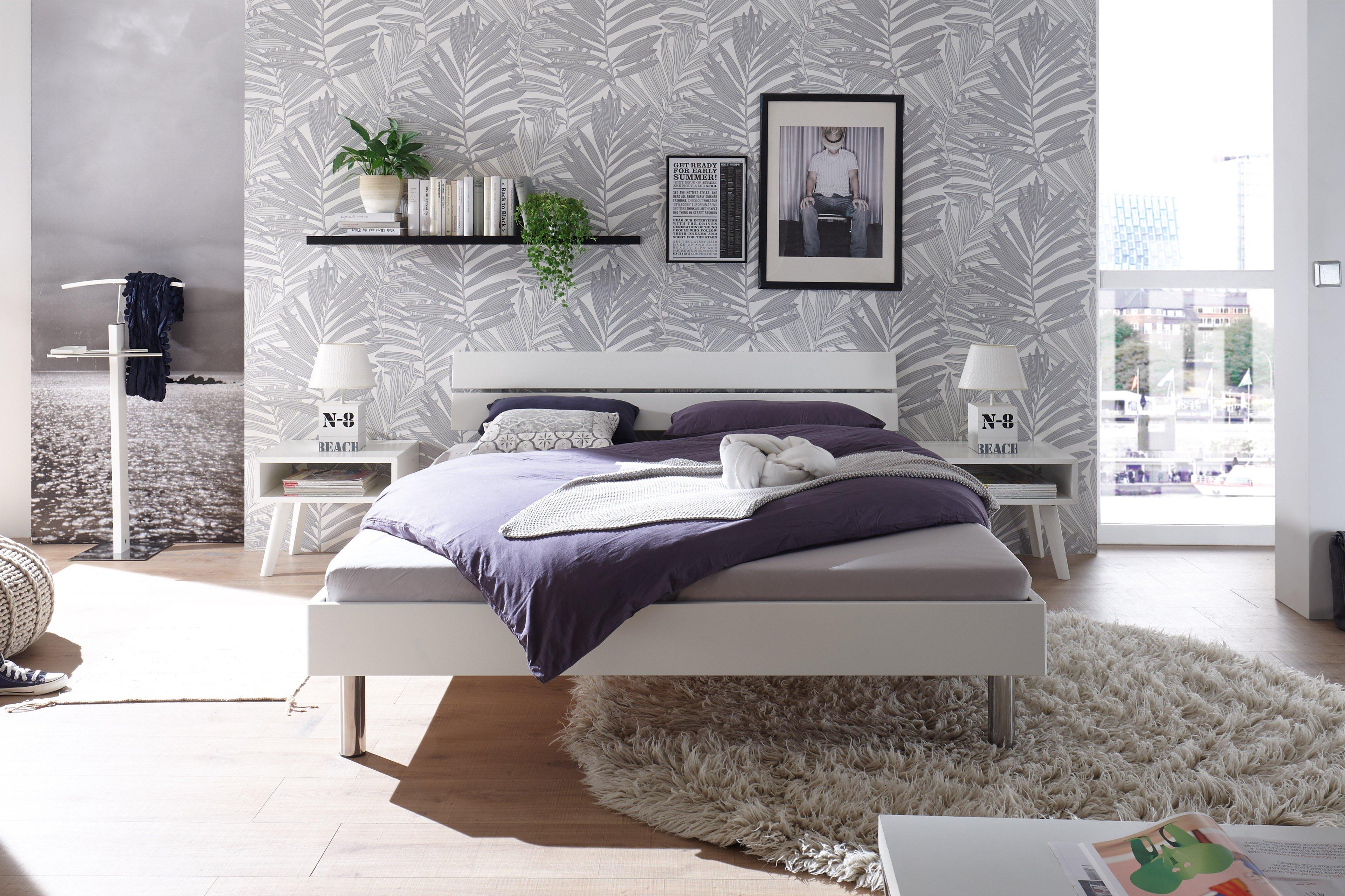 Kollektion Fine-Moderno Hasena Holz-Bett in Weiß | Möbel Letz - Ihr ...