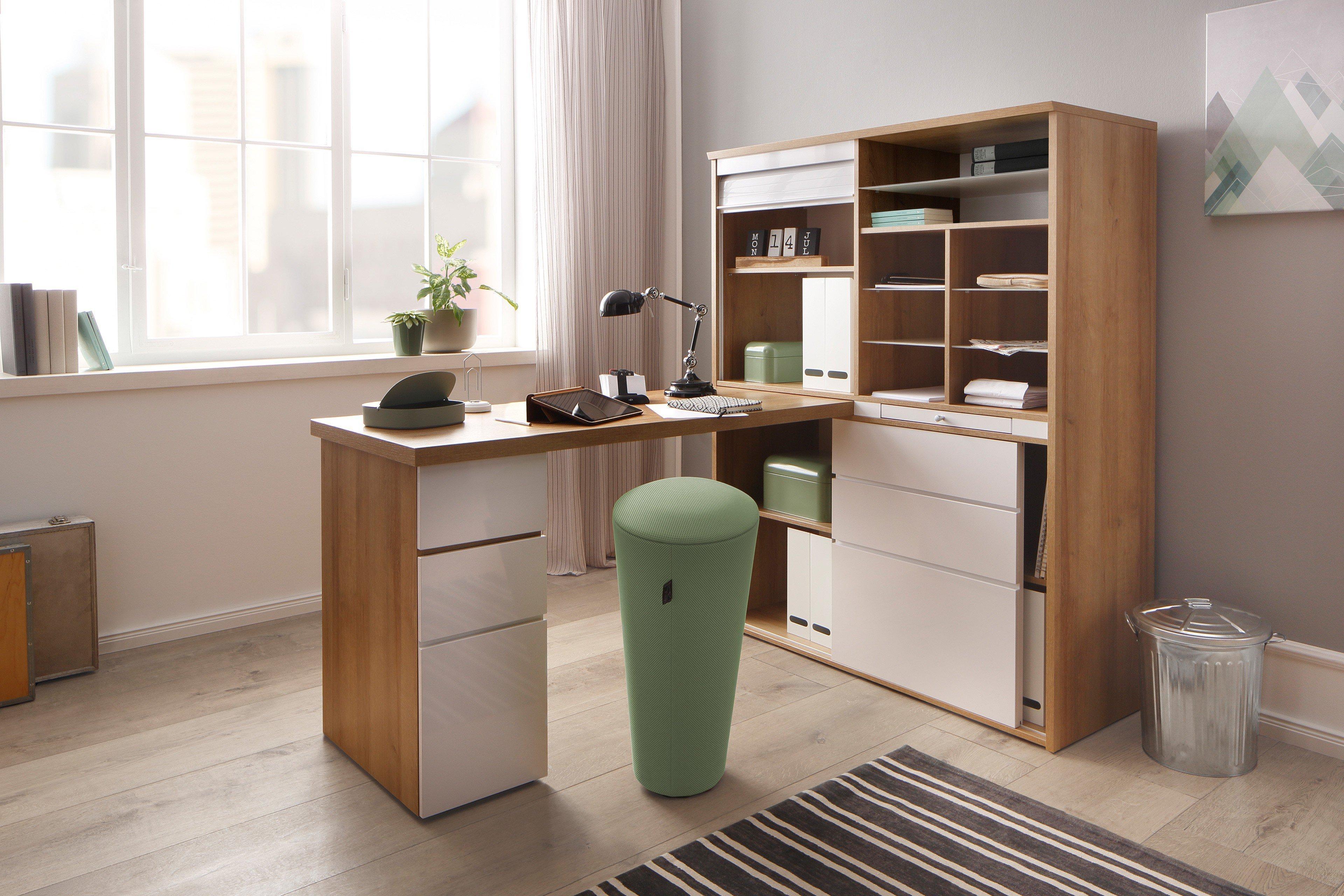 Maja Minioffice 9565 Riviera Eiche Weiss Mobel Letz Ihr Online Shop