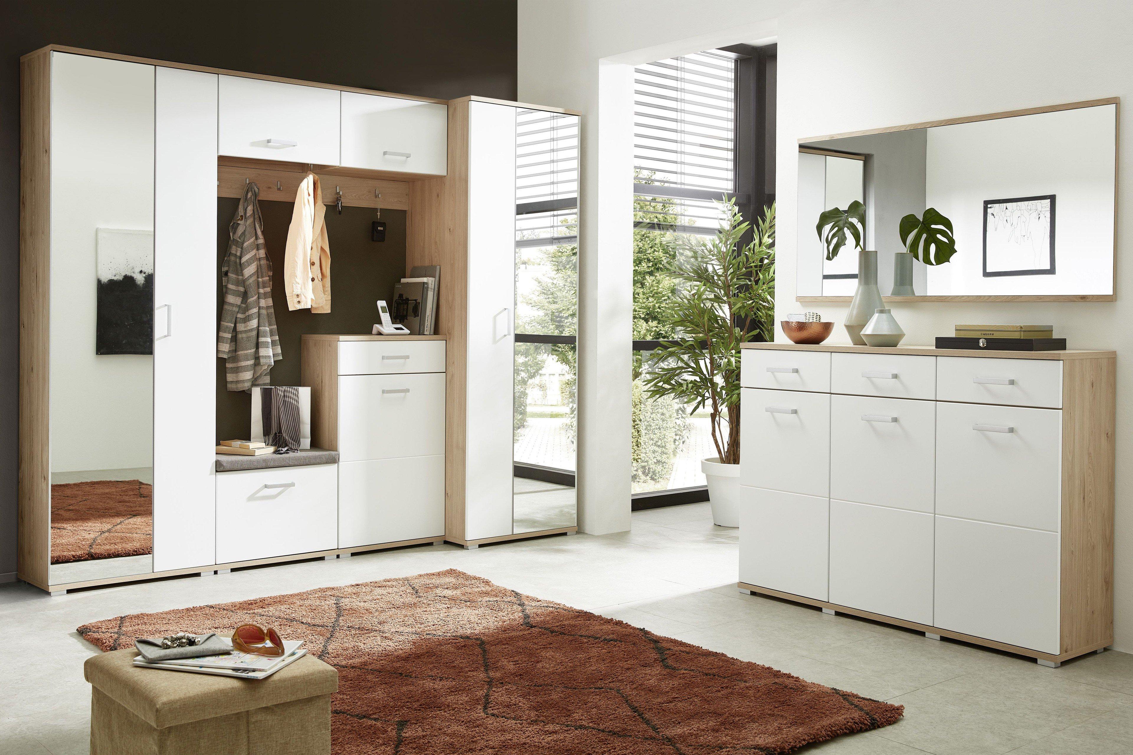 innostyle garderobe arkona lack wei eiche m bel letz ihr online shop. Black Bedroom Furniture Sets. Home Design Ideas