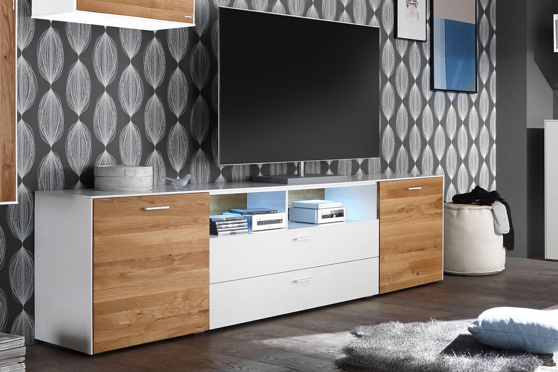 arizona von mausbacher tv unterteil weiss matt wildeiche