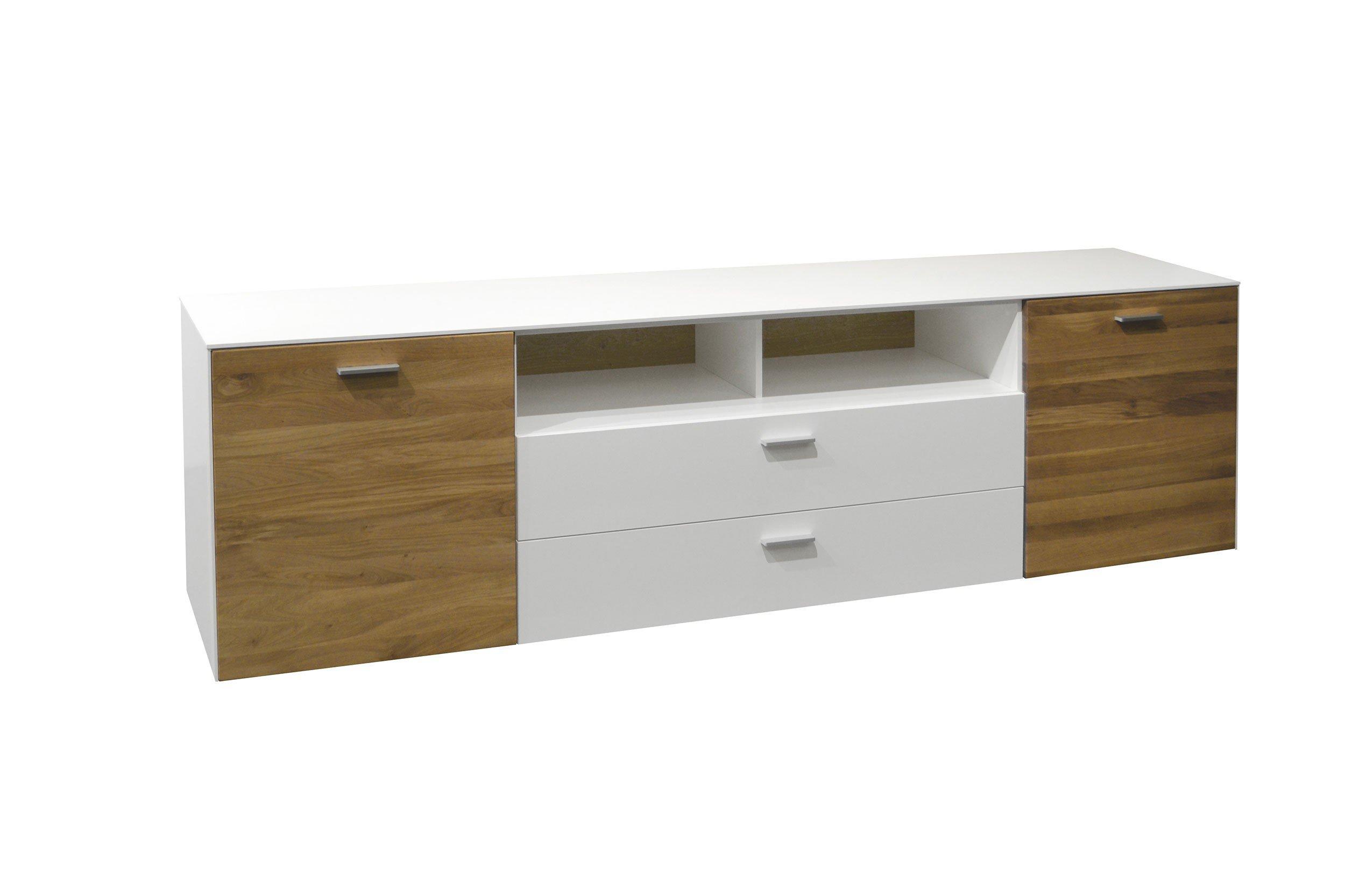 tv unterteil arizona wei matt wildeiche von m usbacher m bel letz ihr online shop. Black Bedroom Furniture Sets. Home Design Ideas
