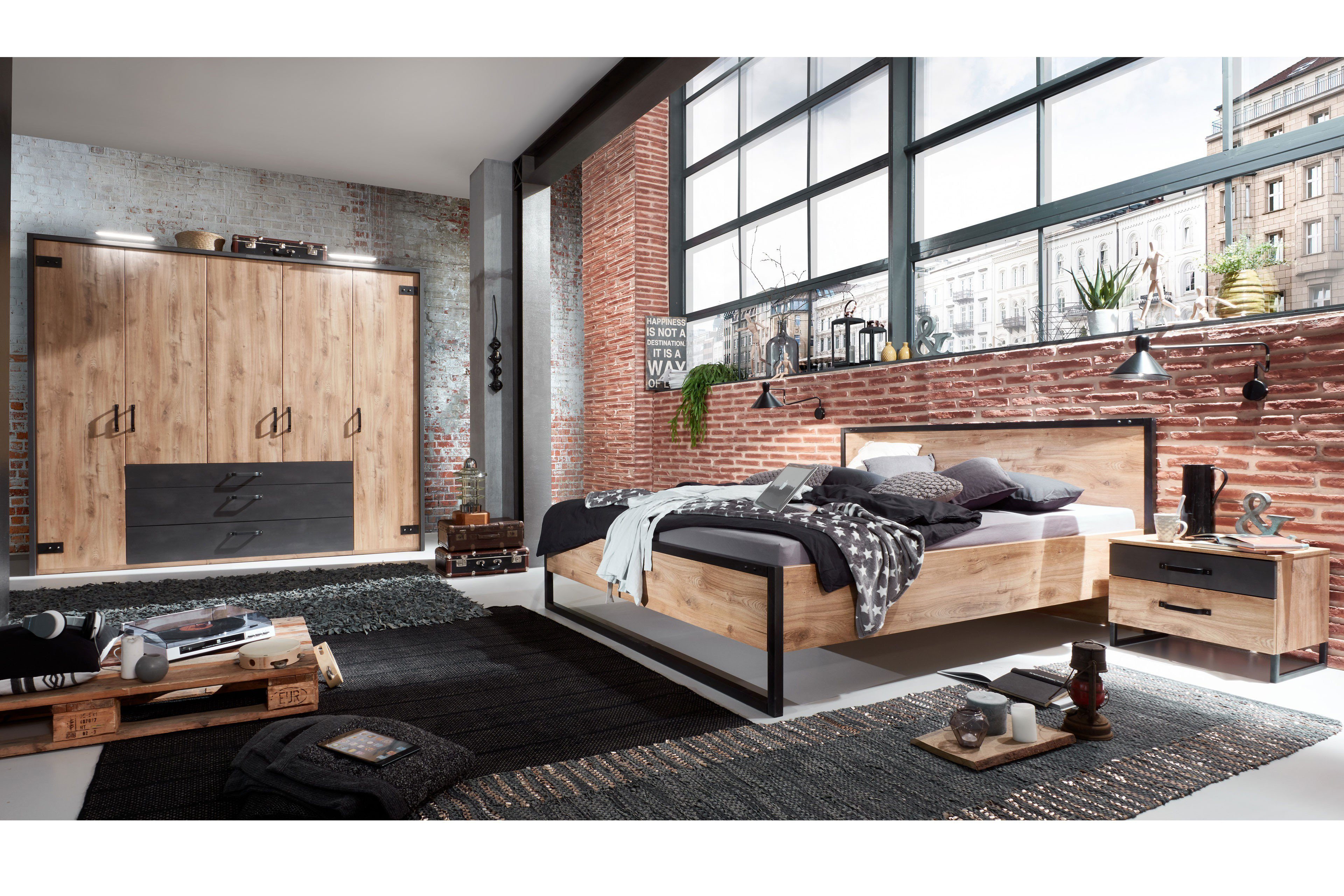 wimex detroit schlafzimmer im industrial style m bel letz ihr online shop. Black Bedroom Furniture Sets. Home Design Ideas