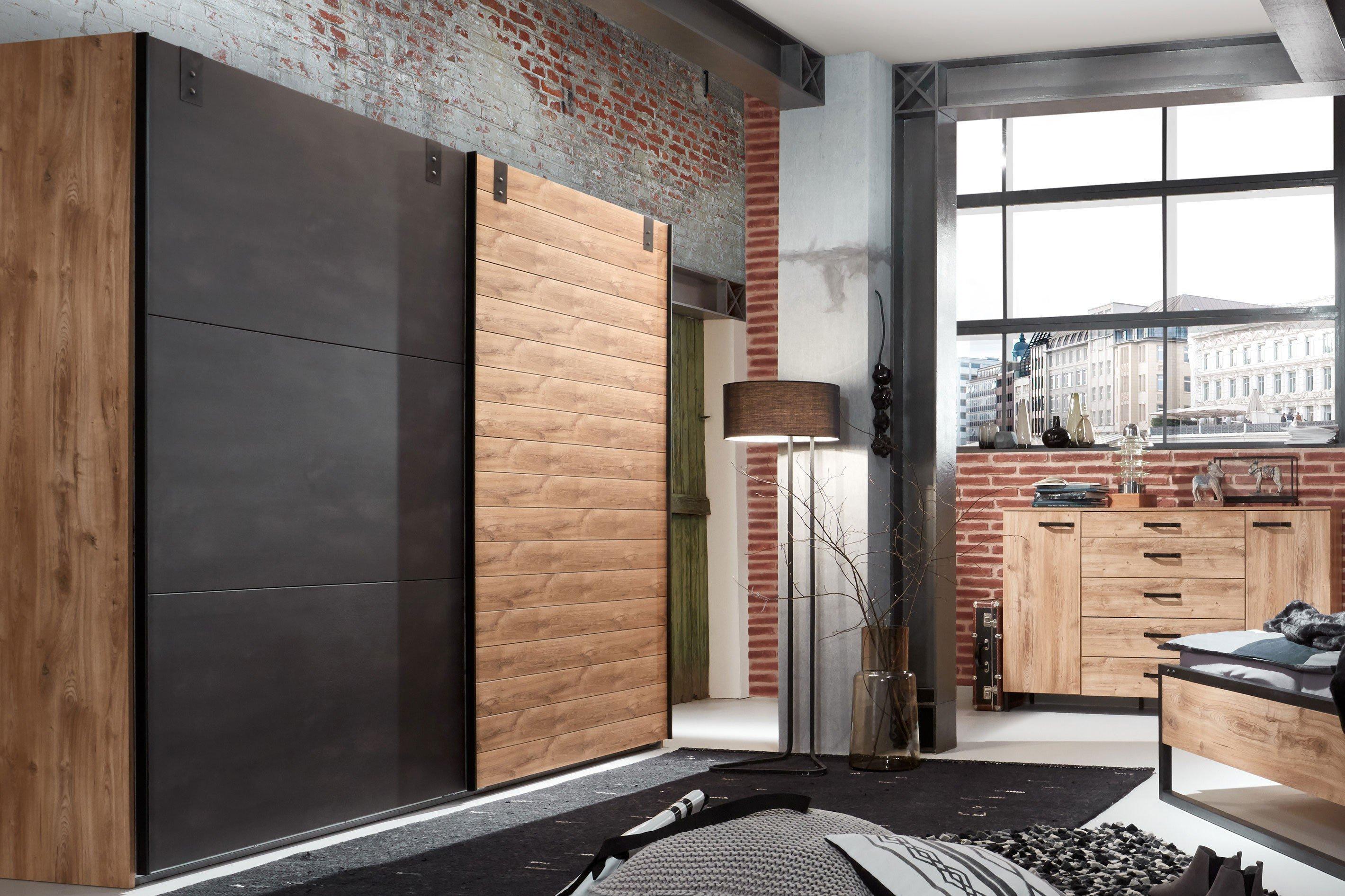 Wimex Detroit Schrank In Holznachbildung Mit Metall Mobel Letz