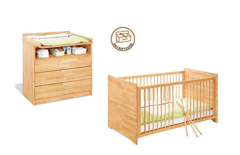 pinolino natura babym bel sparset buche massiv m bel. Black Bedroom Furniture Sets. Home Design Ideas