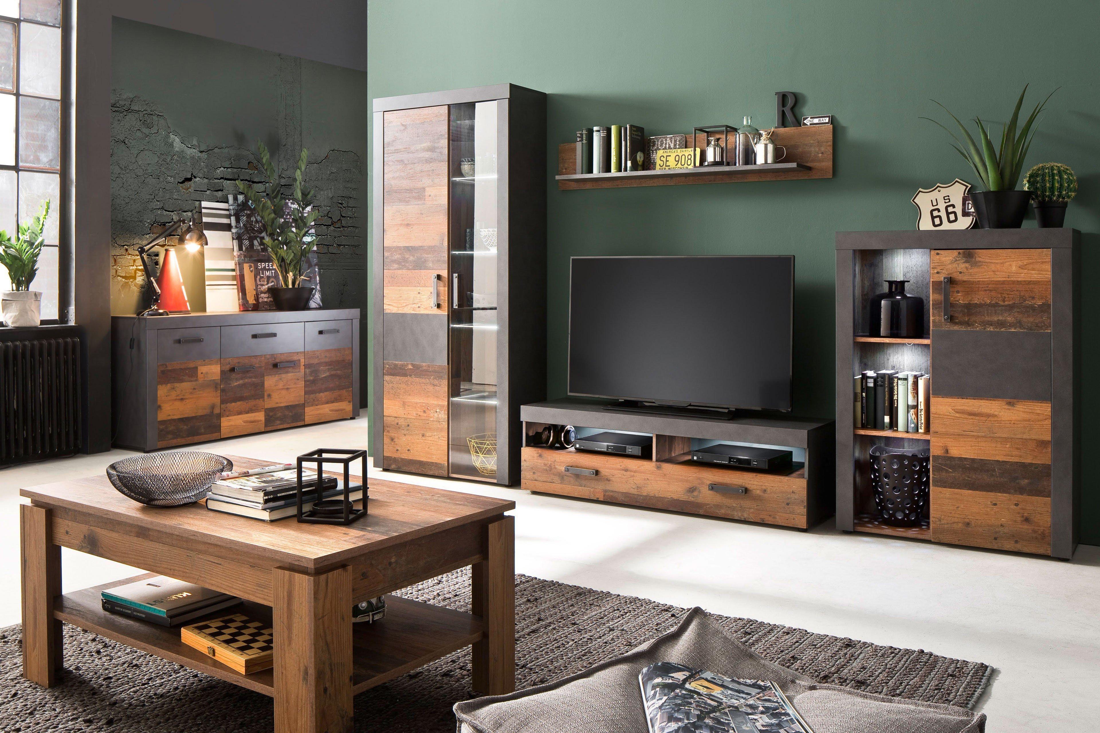 Trendteam Wohnwand Indy Old Wood Mobel Letz Ihr Online Shop