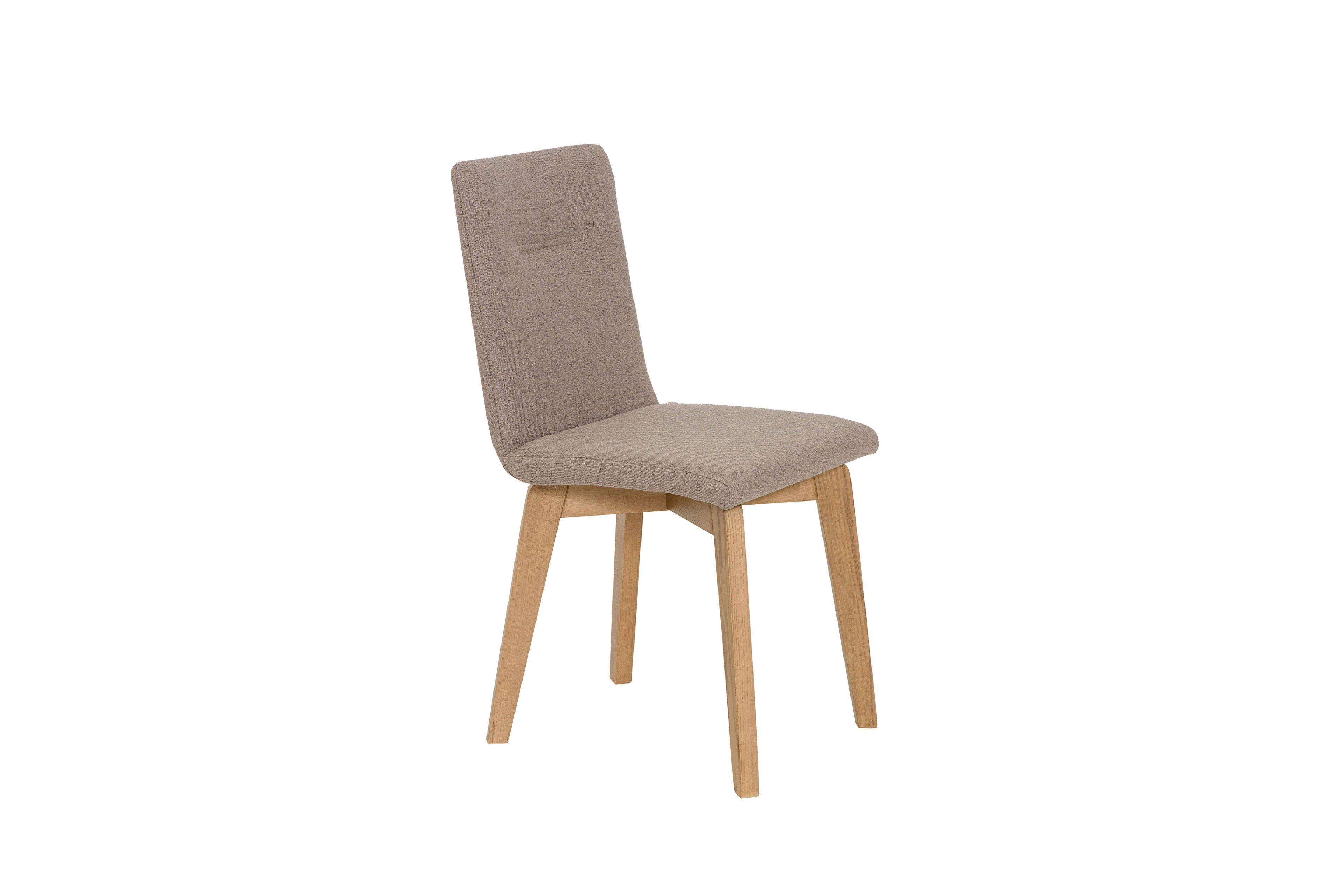 Ontario 1 von Standard Furniture Stuhl in Taupe mit Holzbeinen