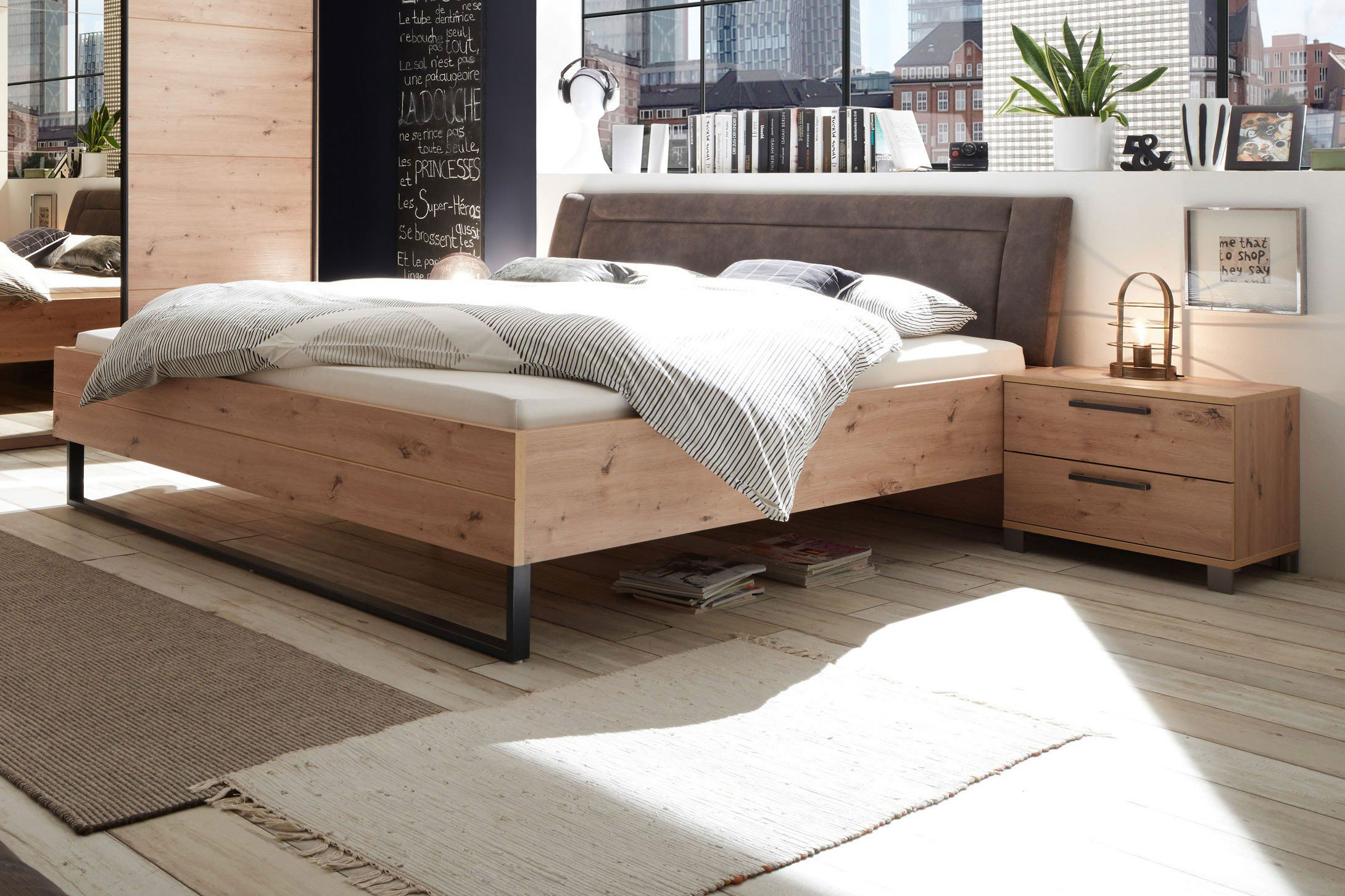 pol power orlando bett nachtschrank set m bel letz ihr online shop. Black Bedroom Furniture Sets. Home Design Ideas