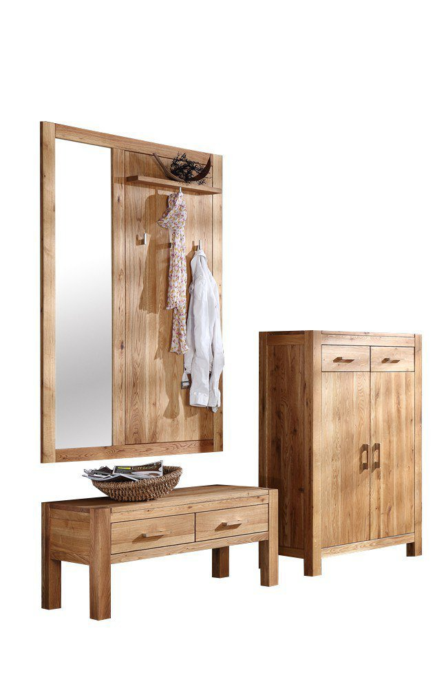 garderobe casa aus ge lter wildeiche henke m bel m bel letz ihr online shop. Black Bedroom Furniture Sets. Home Design Ideas