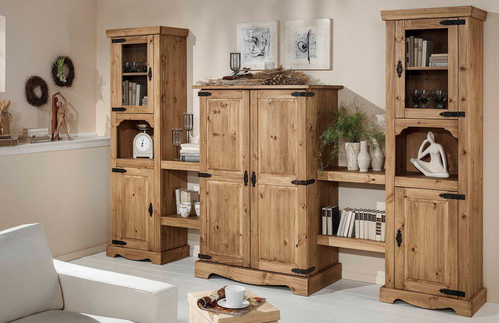 henke m bel wohnwand mexican massive kiefer antik m bel letz ihr online shop. Black Bedroom Furniture Sets. Home Design Ideas