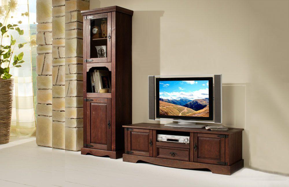 Möbel kolonialstil weiß  Henke Möbel Wohnwand Mexican Kiefer kolonial, 2-teilig | Möbel Letz ...