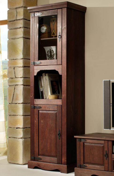 Henke Möbel Wohnwand Mexican Kiefer kolonial 2-teilig | Möbel Letz ...