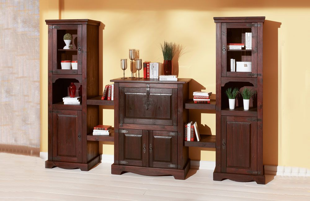 henke m bel wohnwand mexican gewachste kiefer m bel letz ihr online shop. Black Bedroom Furniture Sets. Home Design Ideas