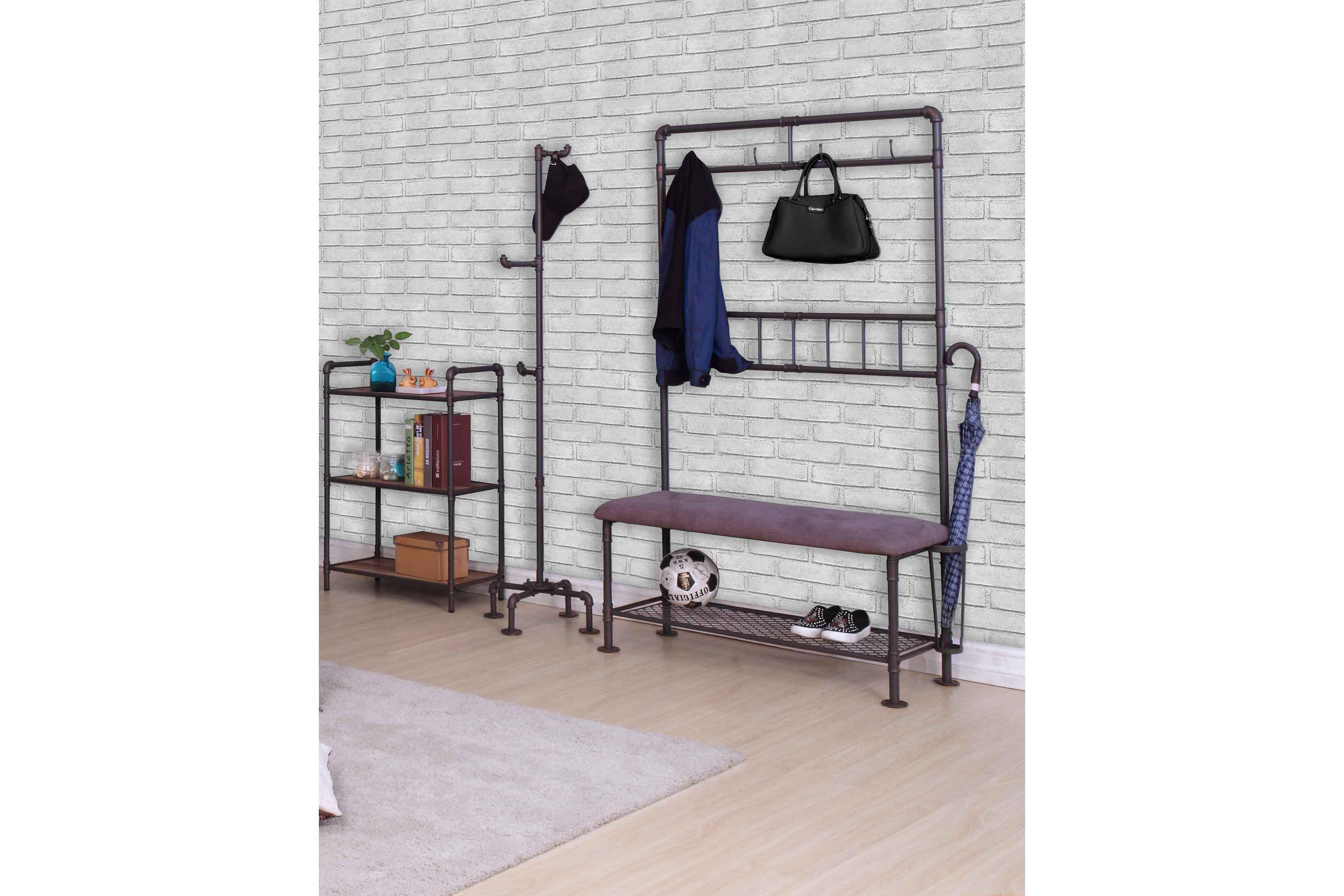 water pipe von Modular - Garderobe mit Sitzbank Fabrik-Chic
