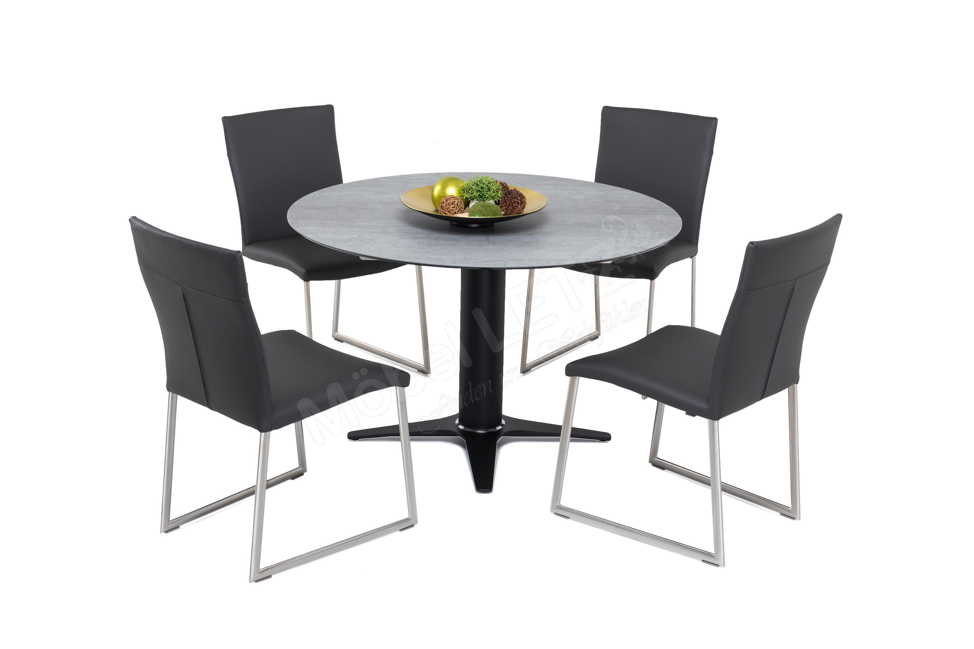 ronald schmitt esstisch p 4540 e keramik zementgrau. Black Bedroom Furniture Sets. Home Design Ideas