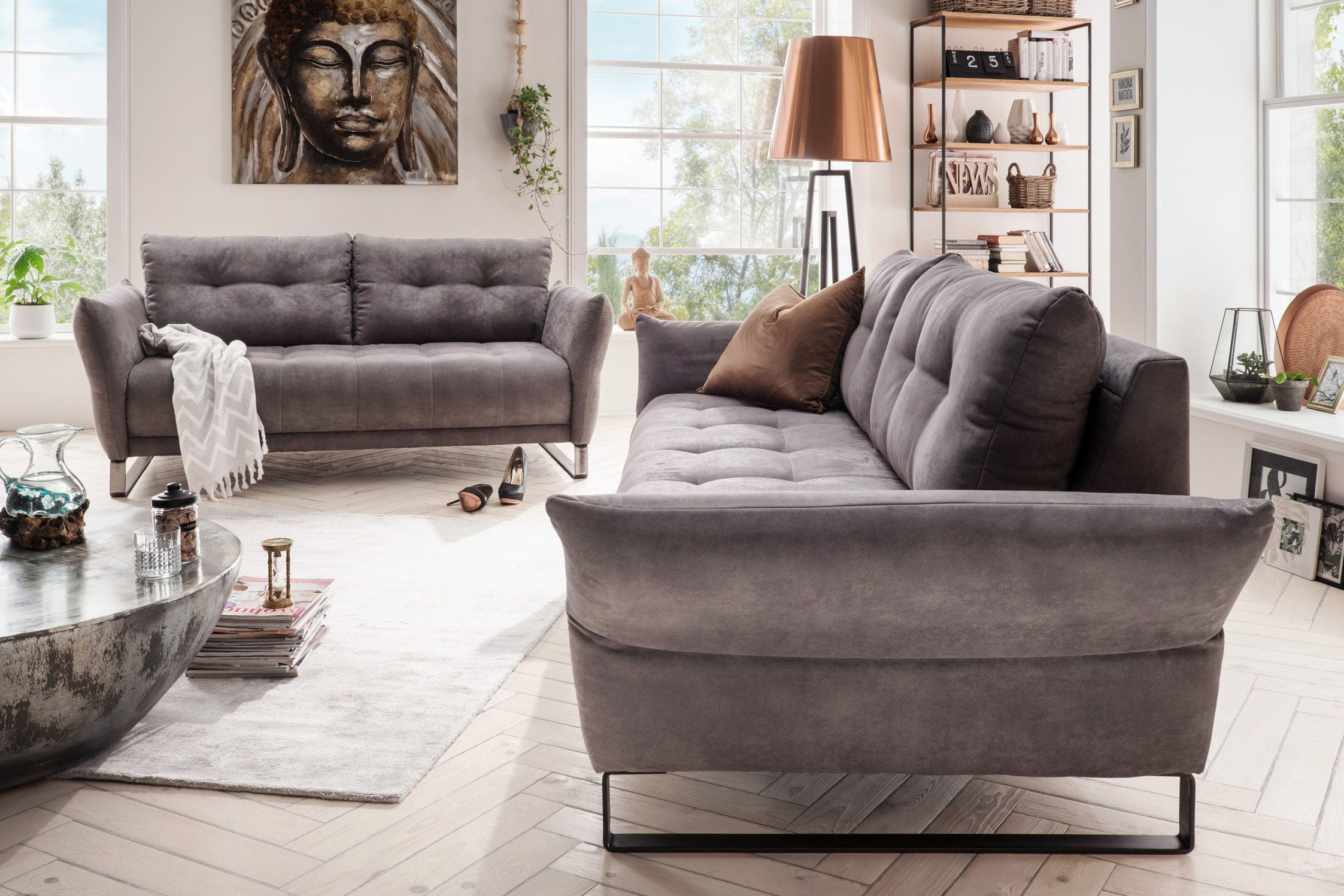 Wohnglücklich By Infantil Manzoni Sofagruppe Schlamm Möbel Letz