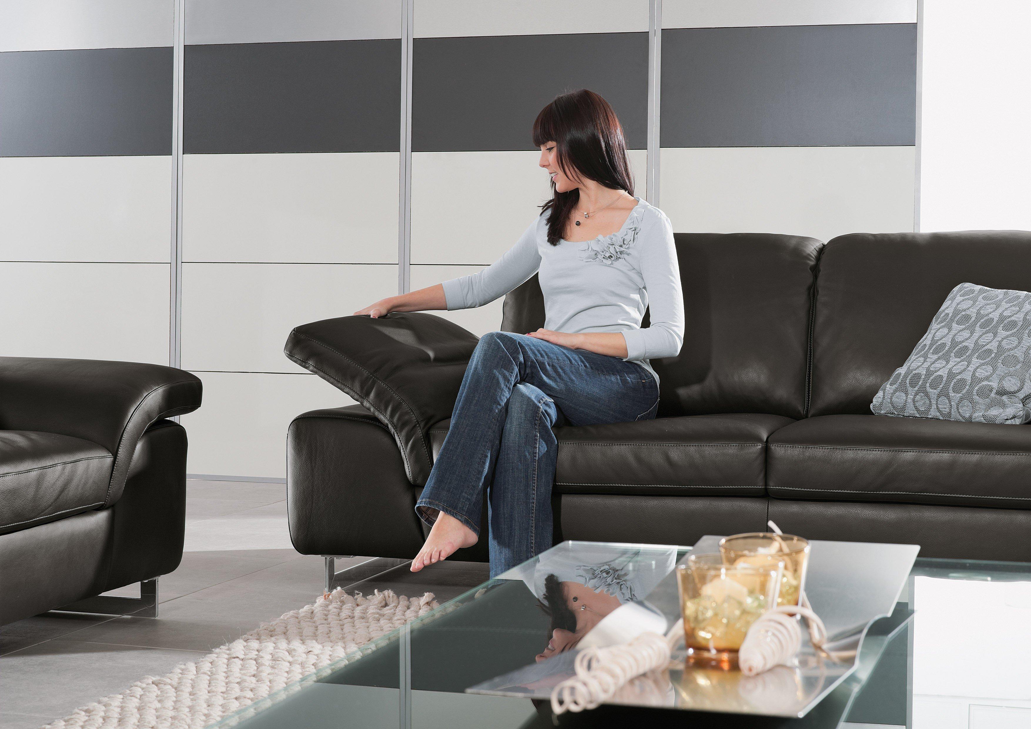 willi schillig 15651 joyzze plus ledergarnitur schwarz m bel letz ihr online shop. Black Bedroom Furniture Sets. Home Design Ideas