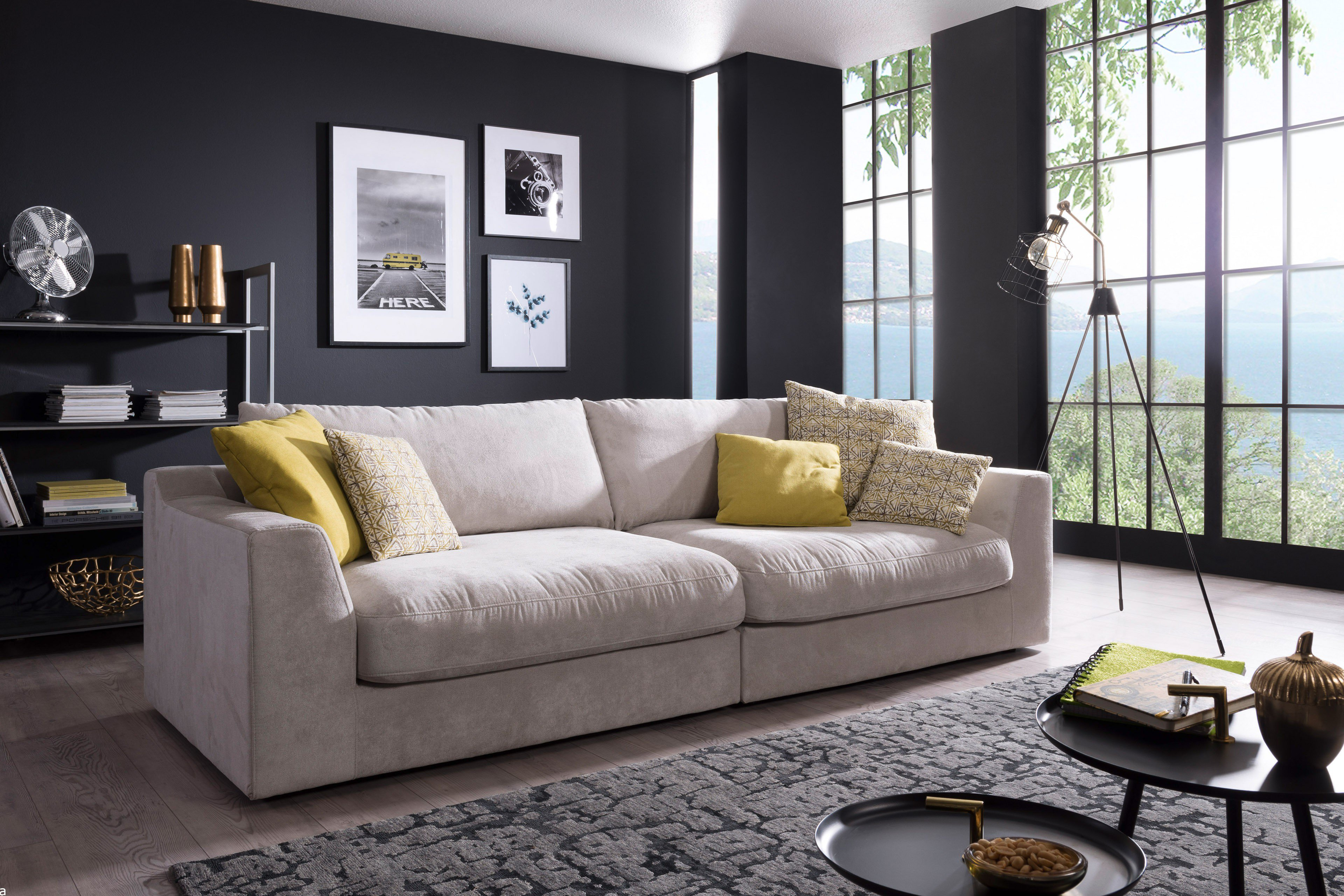 Fuego Von Sit More Home Basic Big Sofa Hellgrau