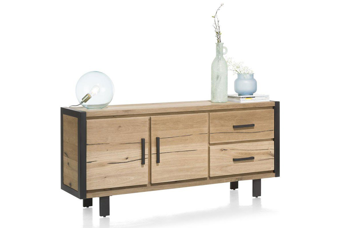 Habufa Sideboard Brooklyn Eiche Railway Brown Möbel Letz Ihr Online Shop