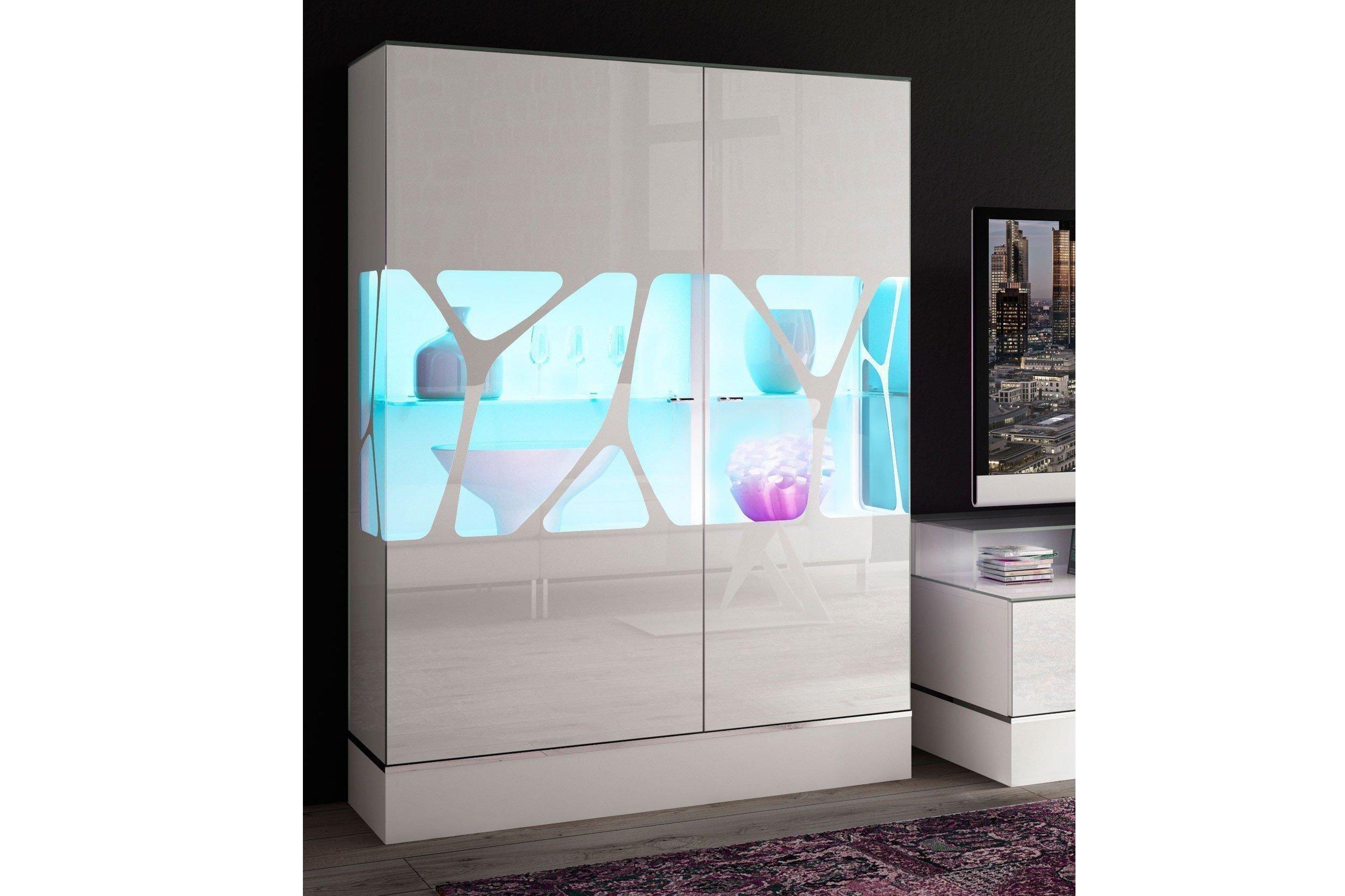 LEONARDO living Highboard CUBE in Weiß | Möbel Letz - Ihr Online-Shop