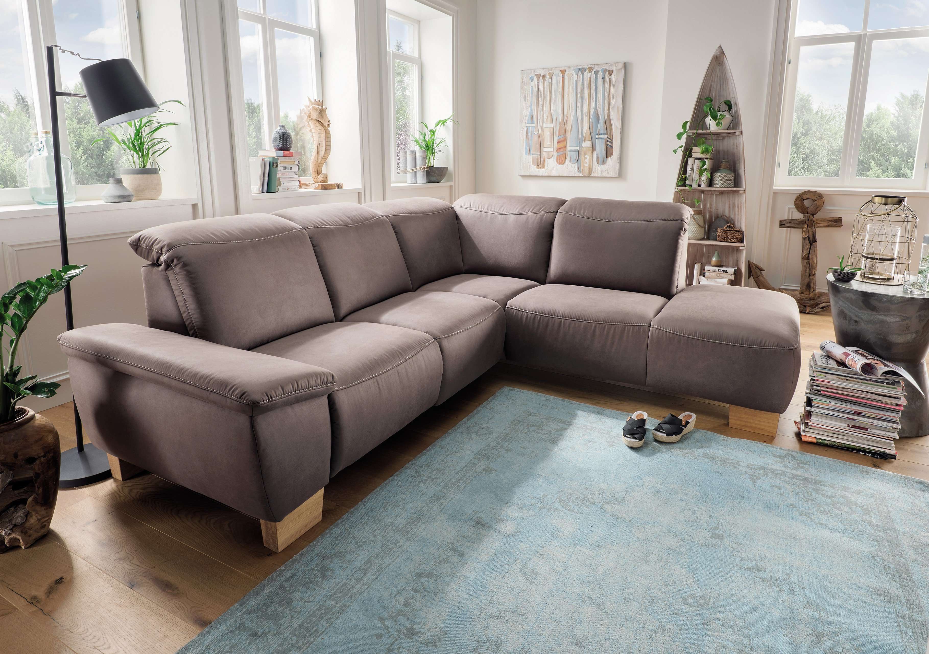 152f52da66 Pure Natur Elin Eckcouch in Braun   Möbel Letz - Ihr Online-Shop