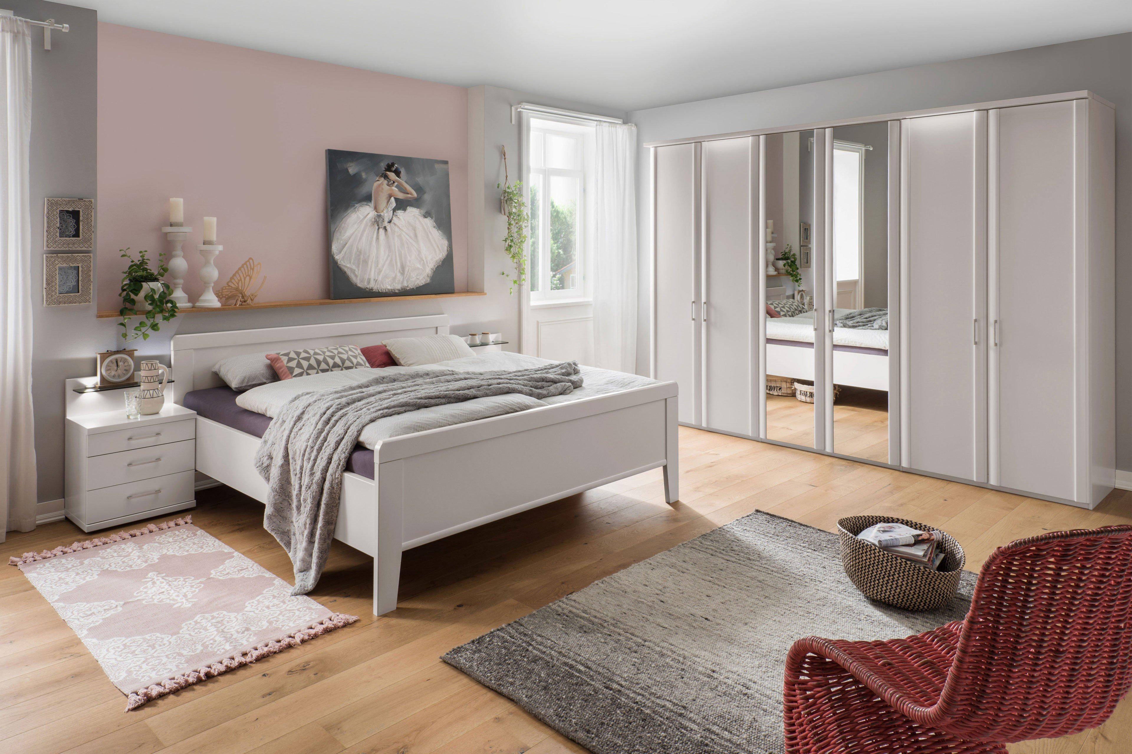 Wiemann Schlafzimmer Bern weiß mit Doppelbett | Möbel Letz - Ihr ...