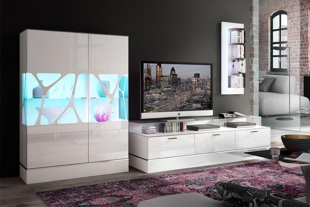 Leonardo Living Wohnwand Ev 11 Cube In Weiß Möbel Letz Ihr