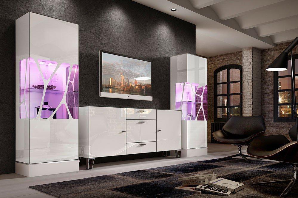 Leonardo Living Wohnwand Ev 12 Cube In Weiß Möbel Letz Ihr