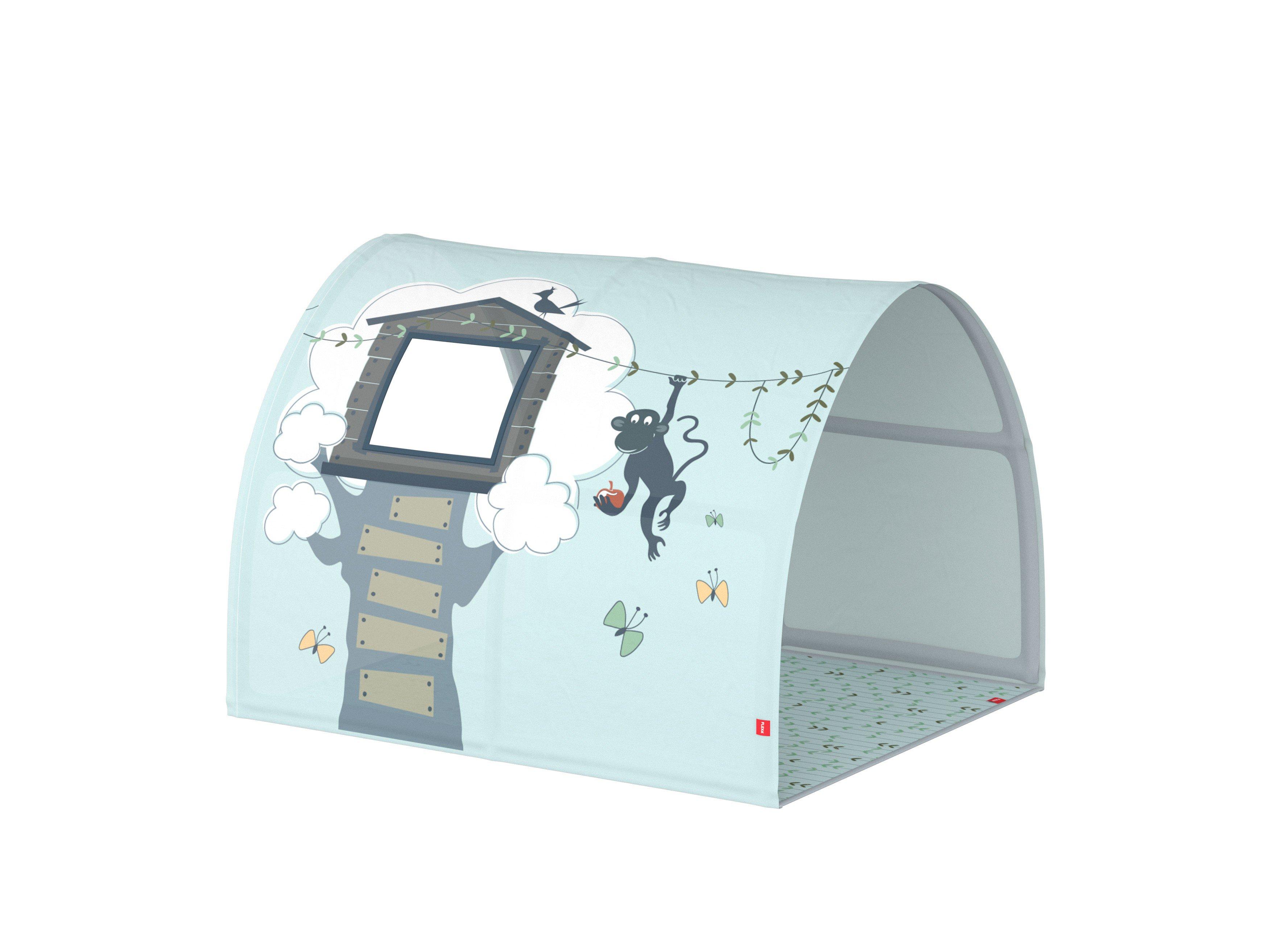 Etagenbett Tunnel Set : Flexa white hochbett weiß mit tunnel und vorhang möbel letz ihr