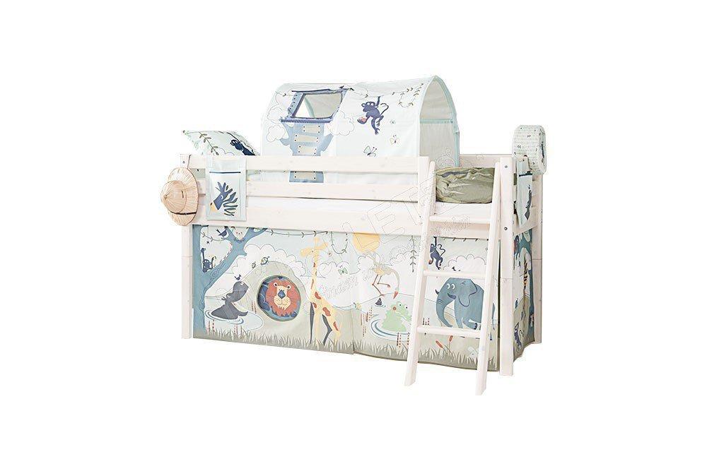 classic halbhochbett flexa mit textilem zubeh 246 r m 246 bel letz ihr shop