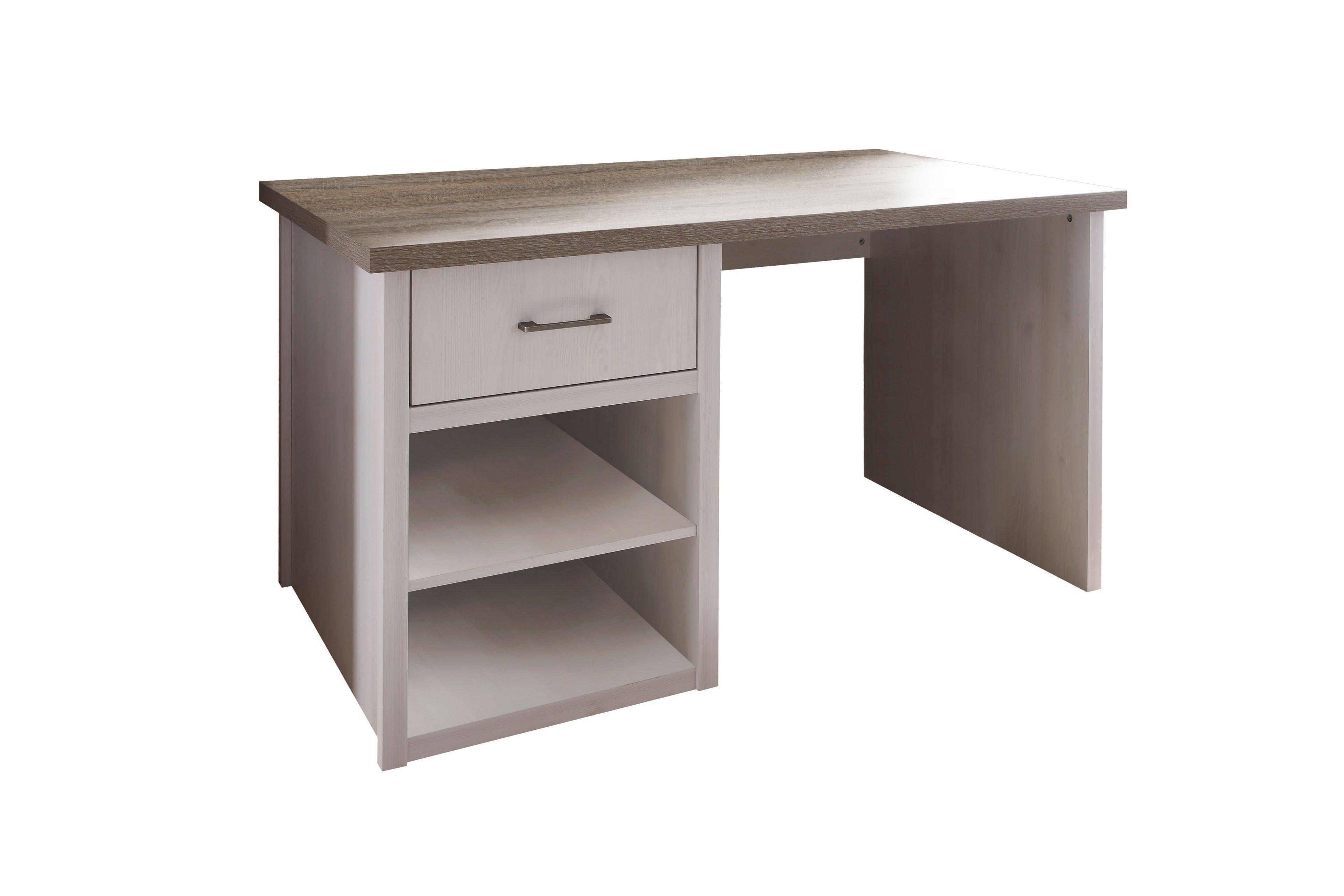 Begabino Schreibtisch Luca Pinie Weiß Trüffel Möbel Letz Ihr