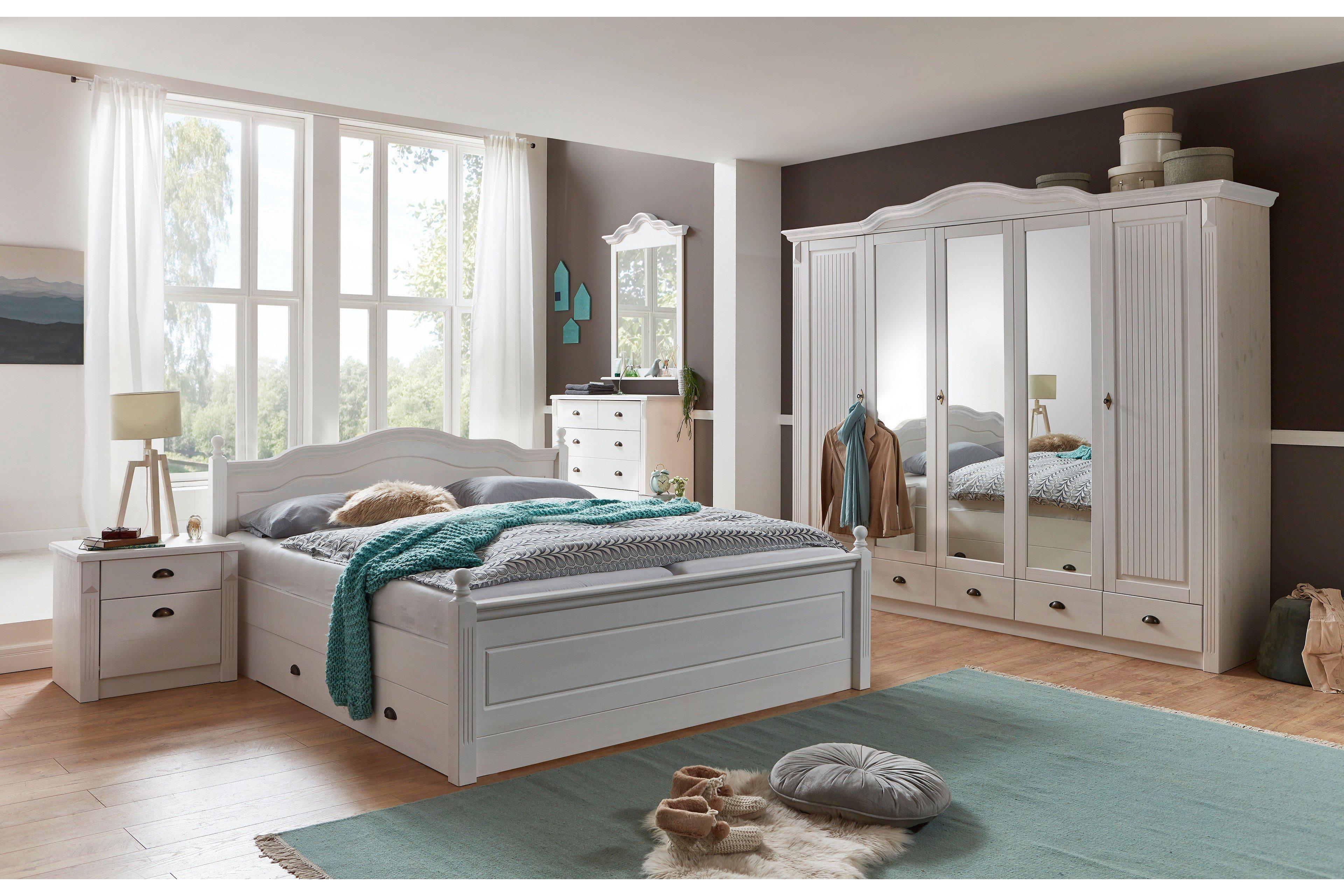 Pure Natur Schlafzimmer Kiefer weiß | Möbel Letz - Ihr Online-Shop