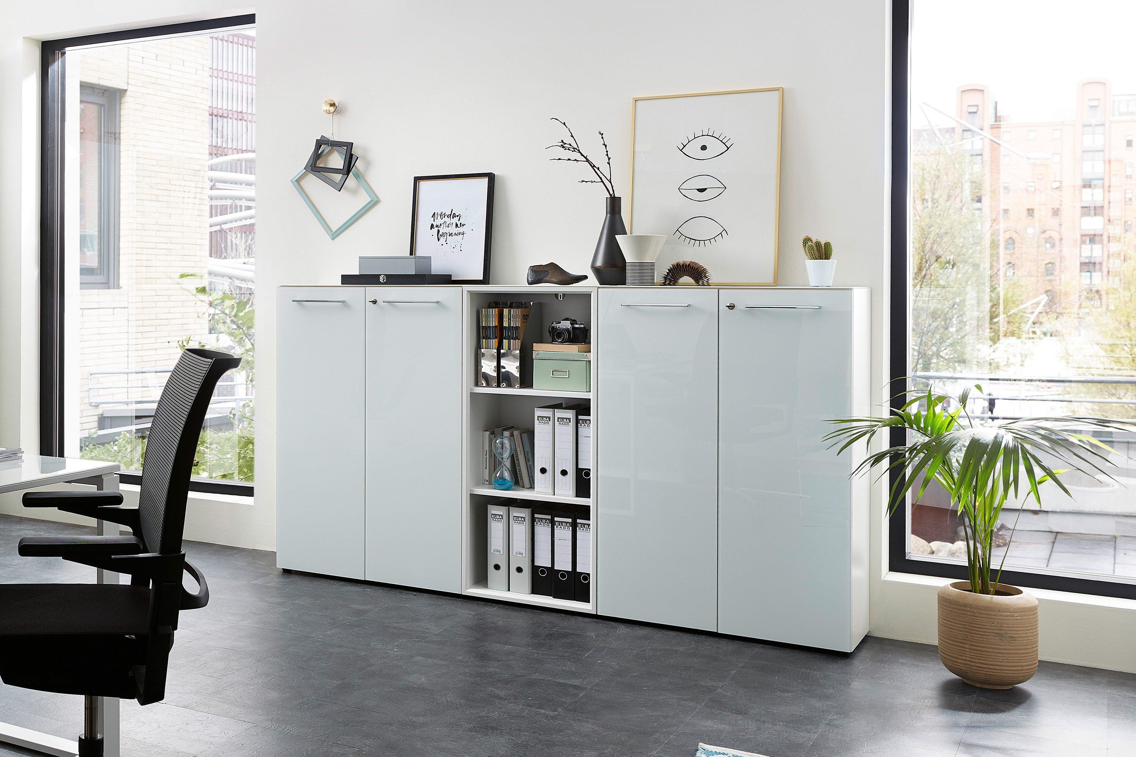 Germania Monteria Buromobel Weiss Mit Glas Mobel Letz Ihr Online Shop