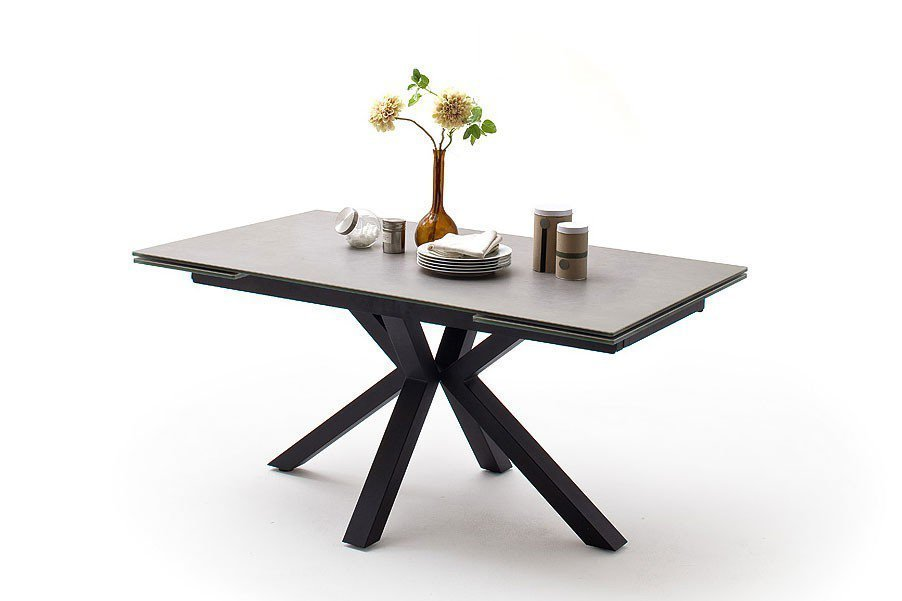 mca furniture esstisch nagano keramik hellgrau gestell schwarz matt m bel letz ihr online shop. Black Bedroom Furniture Sets. Home Design Ideas