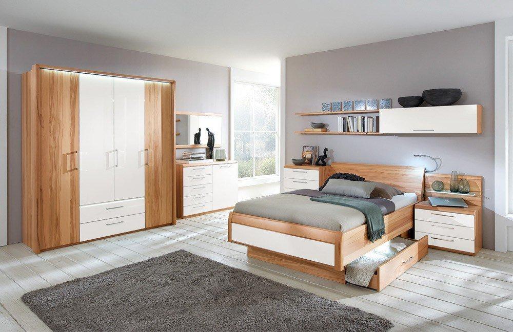 Disselkamp Comfort-V Schlafzimmer Absetzung weiß  Möbel Letz - Ihr Online-Shop