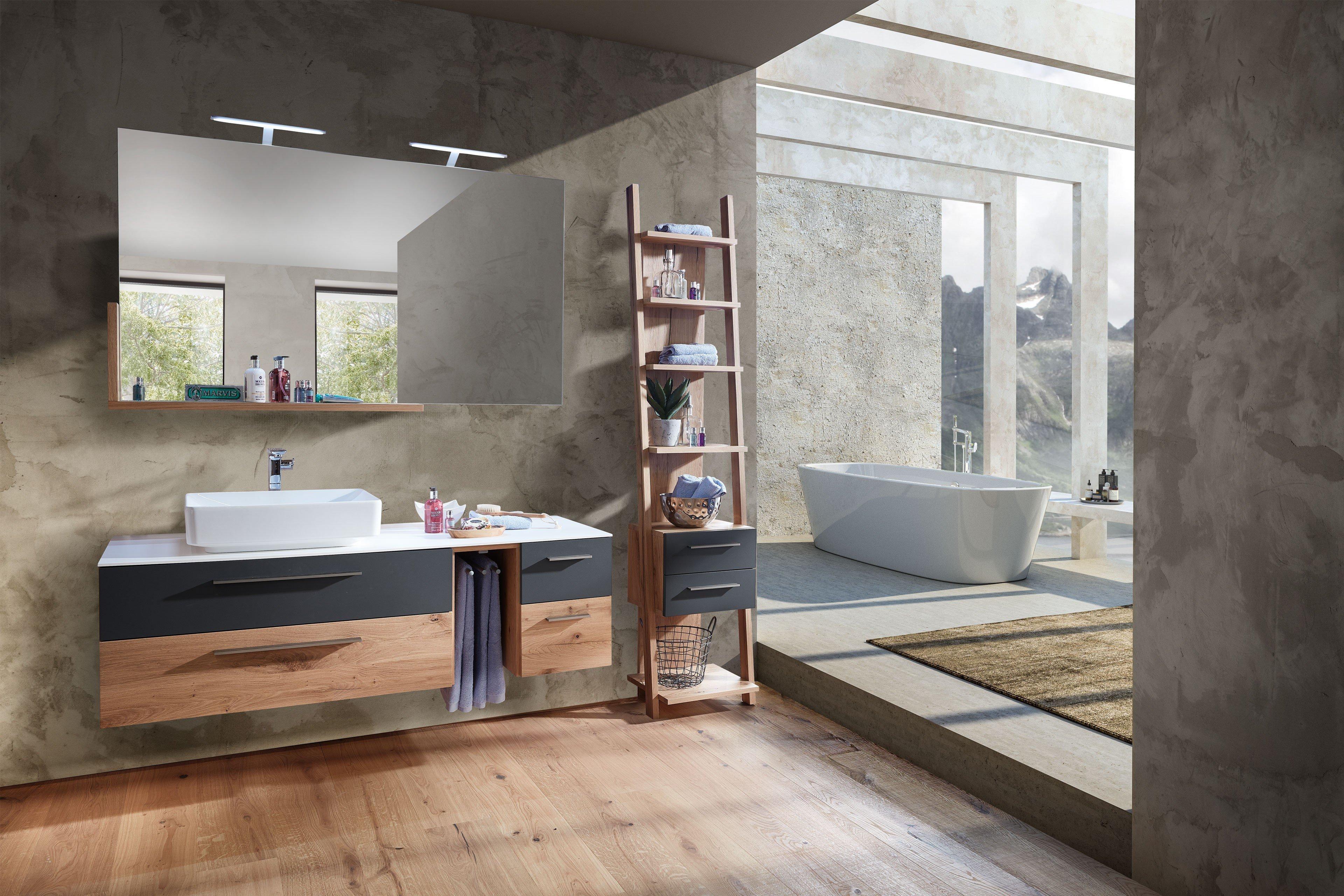 Kitzalm Alpenflair von Schröder - Badezimmer in Lack anthrazit