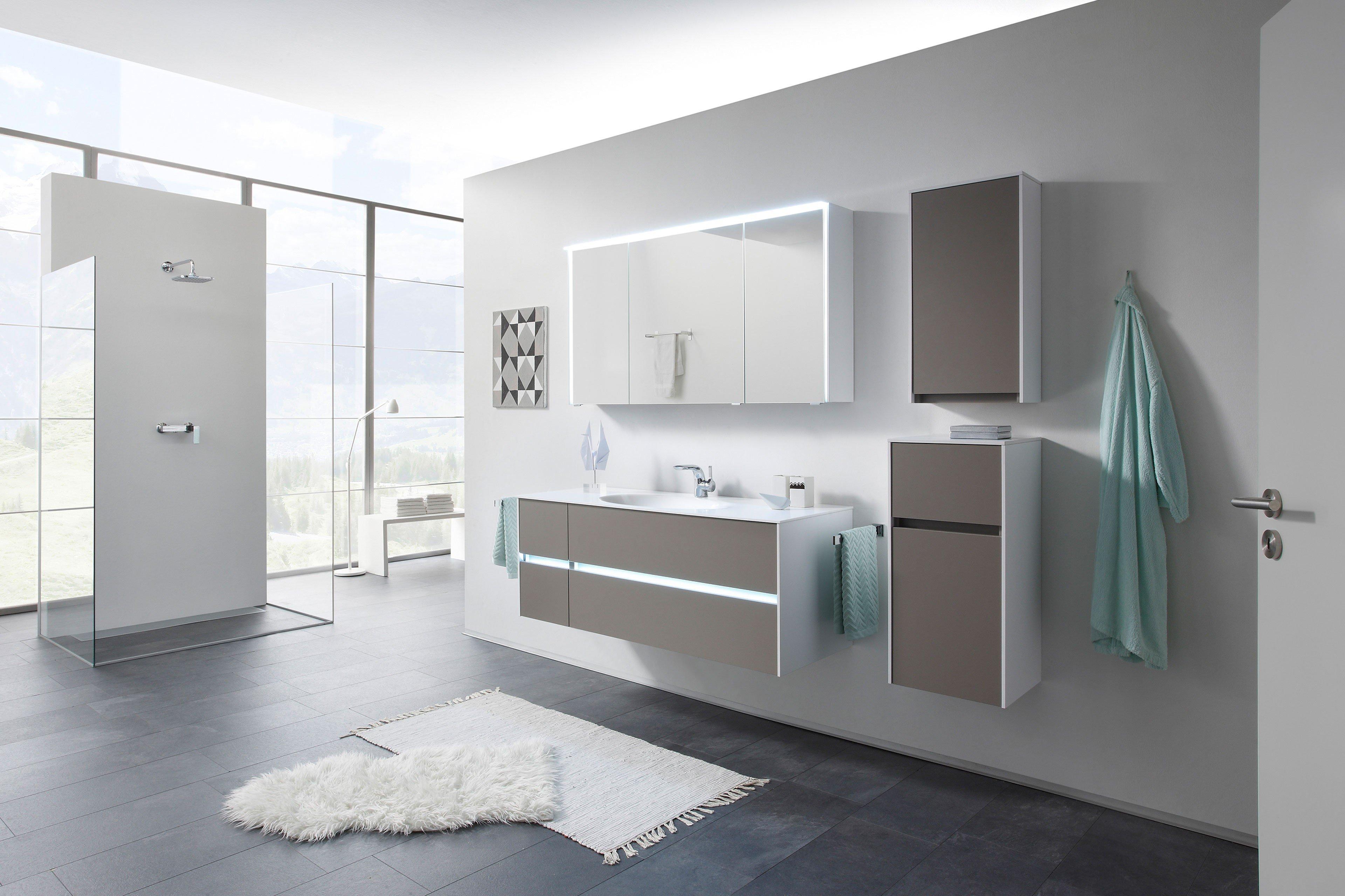 Solitaire 6010 von Pelipal - Badezimmer basalt grau/ weiß