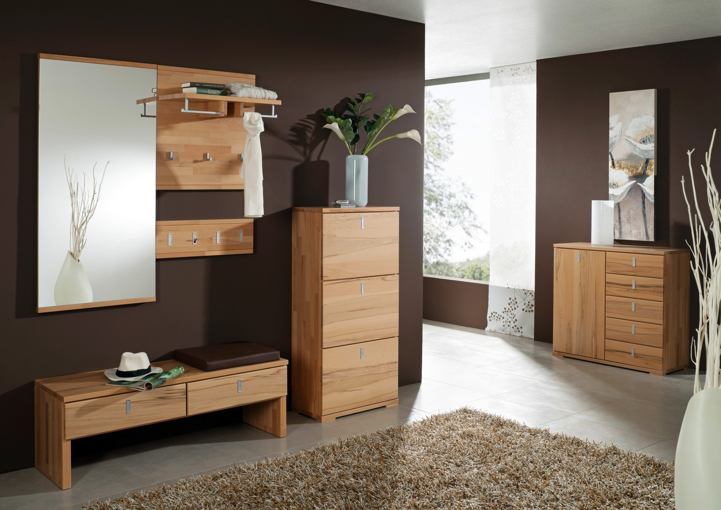 bienenm hle garderobe vido set 06 kernbuche m bel letz. Black Bedroom Furniture Sets. Home Design Ideas