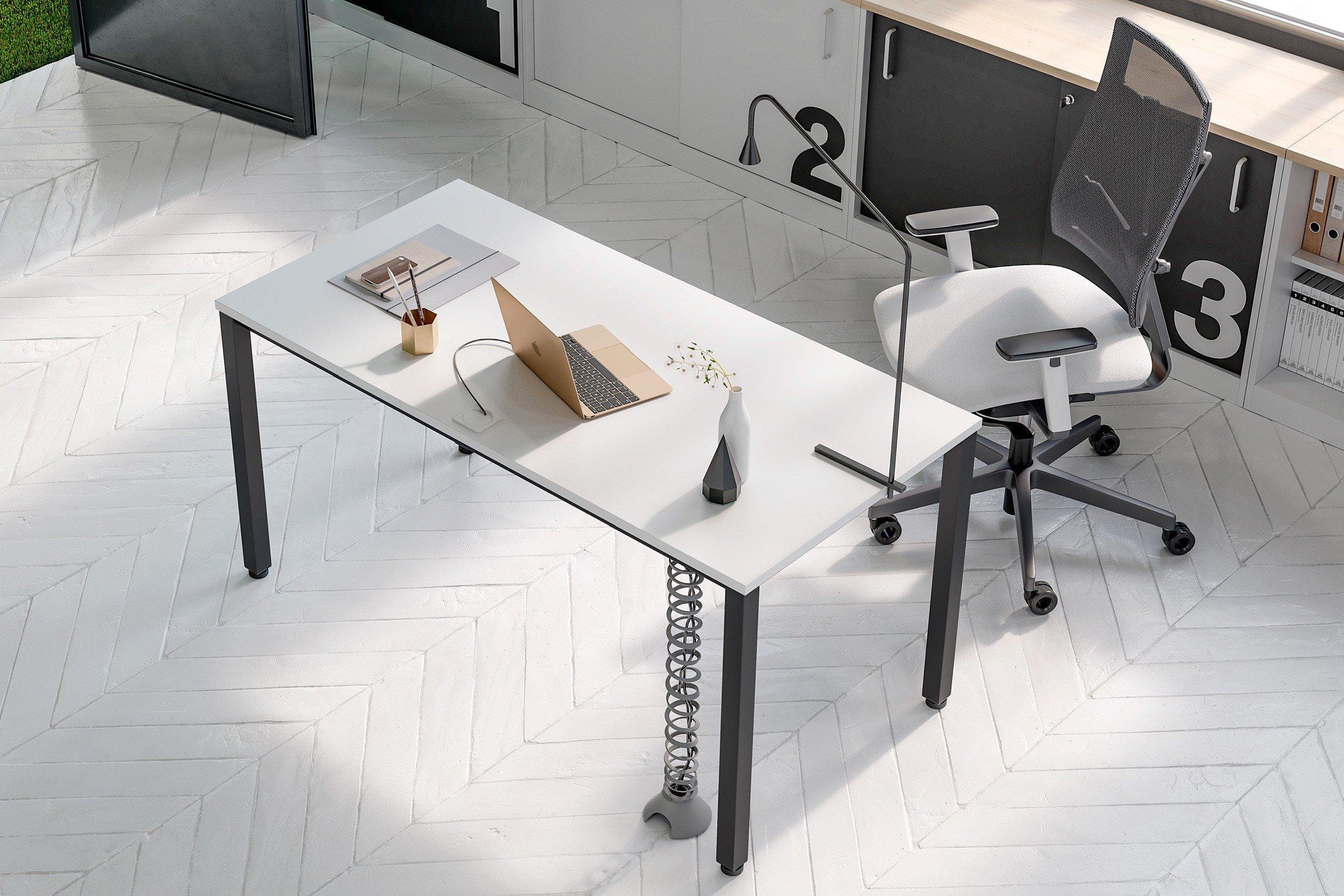 nowy styl schreibtisch e10 schwarz wei m bel letz ihr. Black Bedroom Furniture Sets. Home Design Ideas