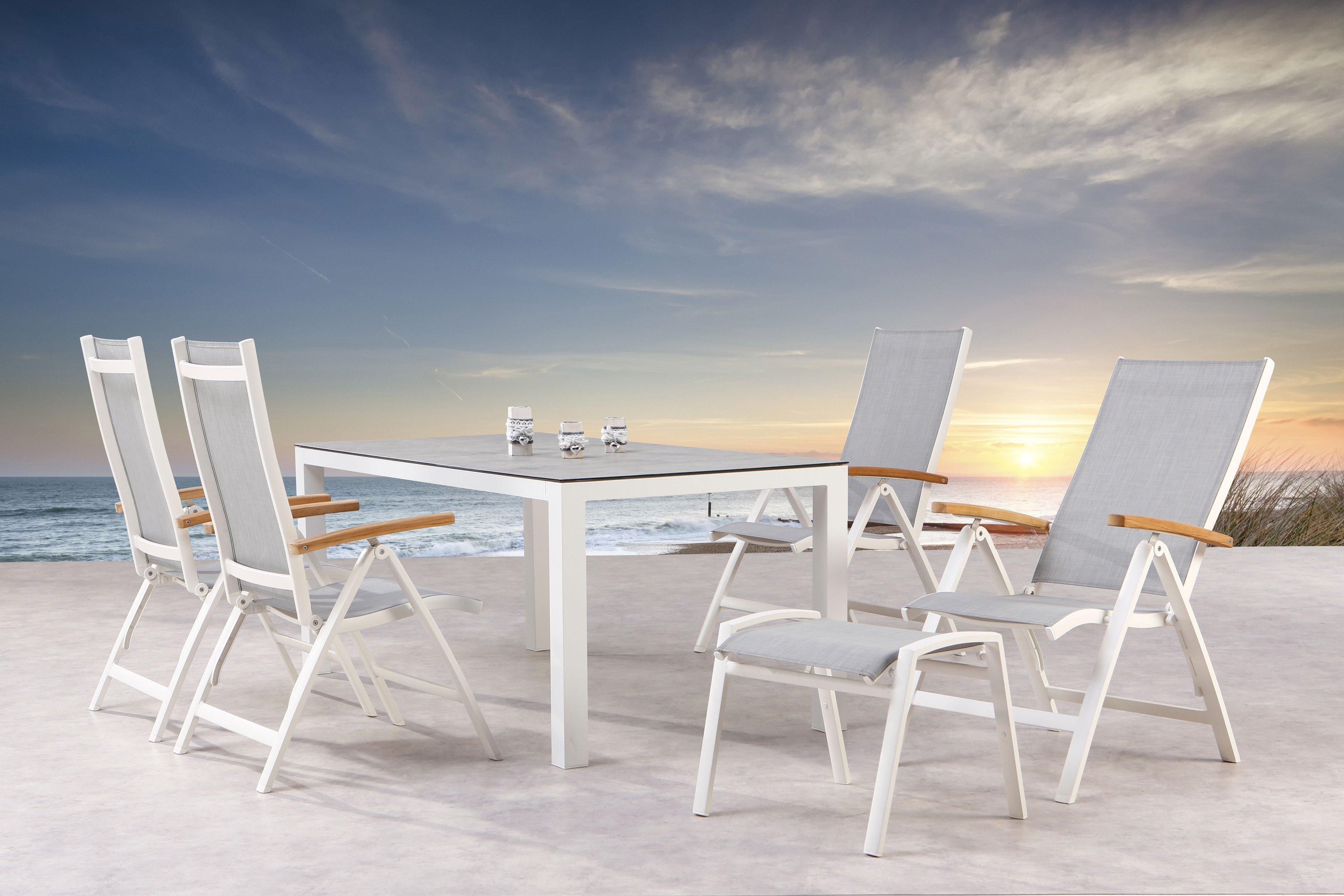 Best Gartentisch Houston Aluminium Weiß Keramik Möbel Letz Ihr