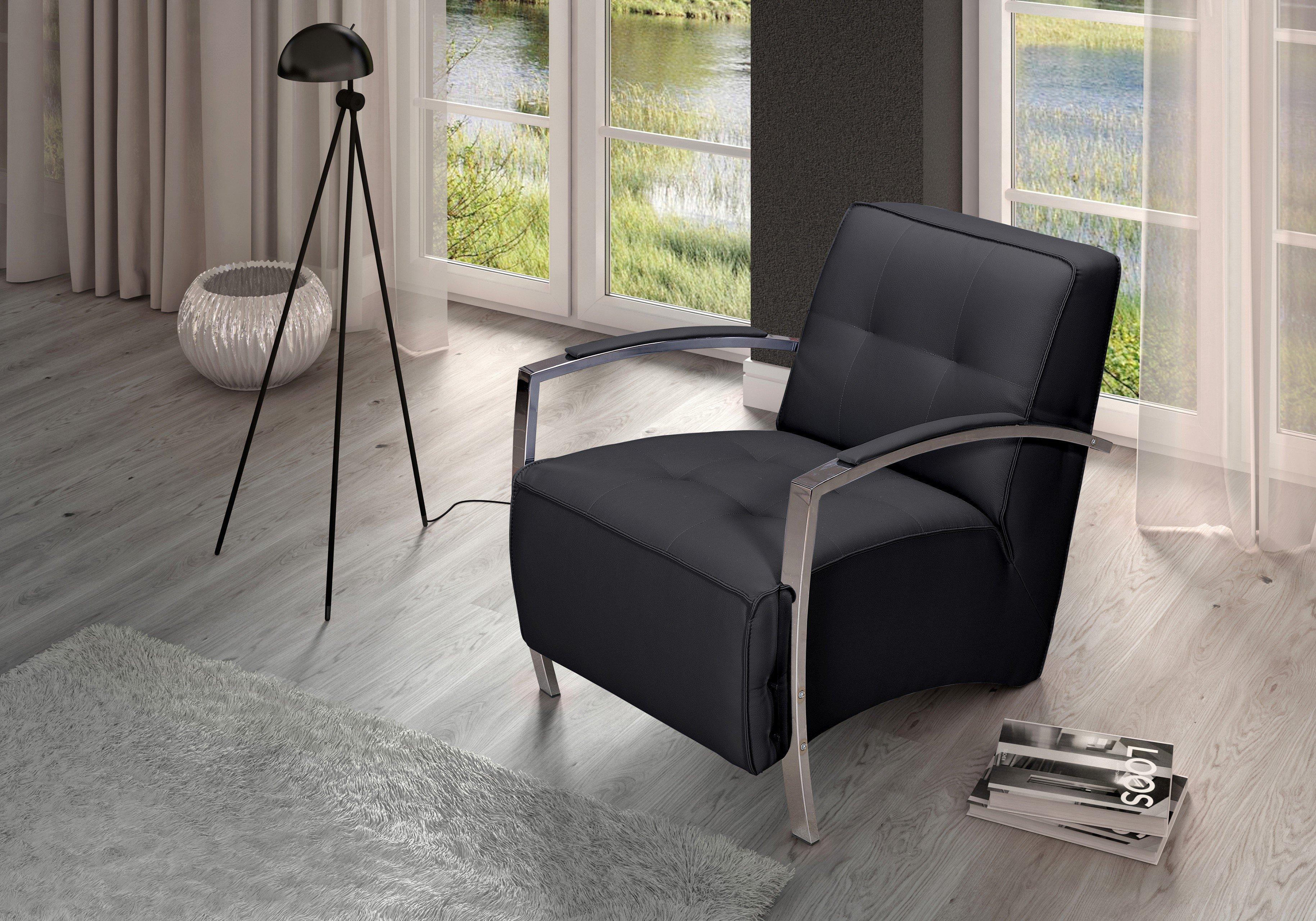 Dreisitz Design Divani Sessel in Schwarz | Möbel Letz - Ihr Online-Shop