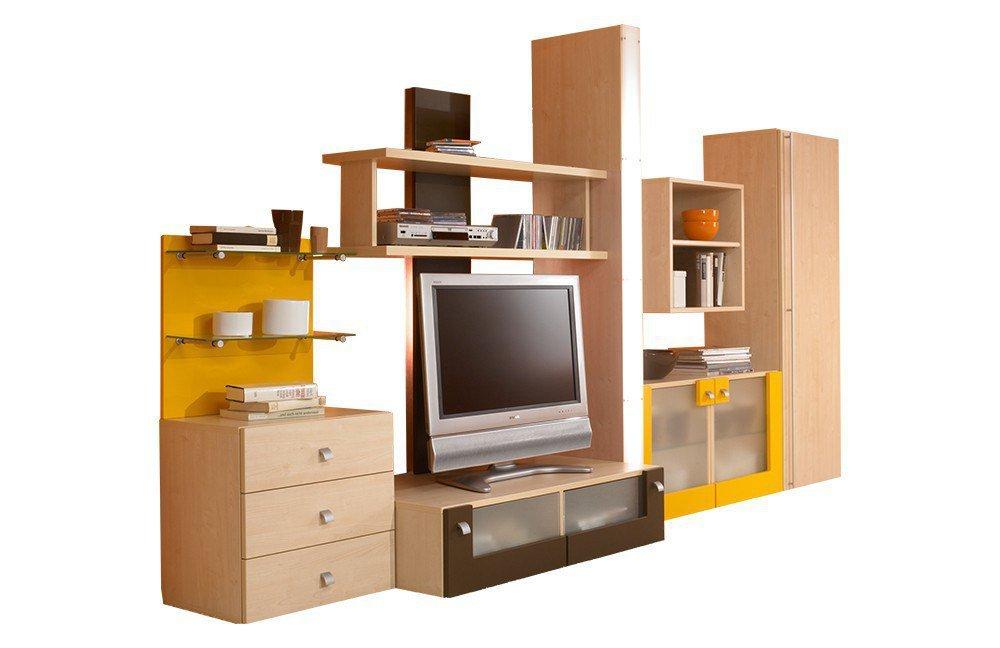 rudolf fiftytwo wohnwand ahorn hell nachbildung m bel letz ihr online shop. Black Bedroom Furniture Sets. Home Design Ideas