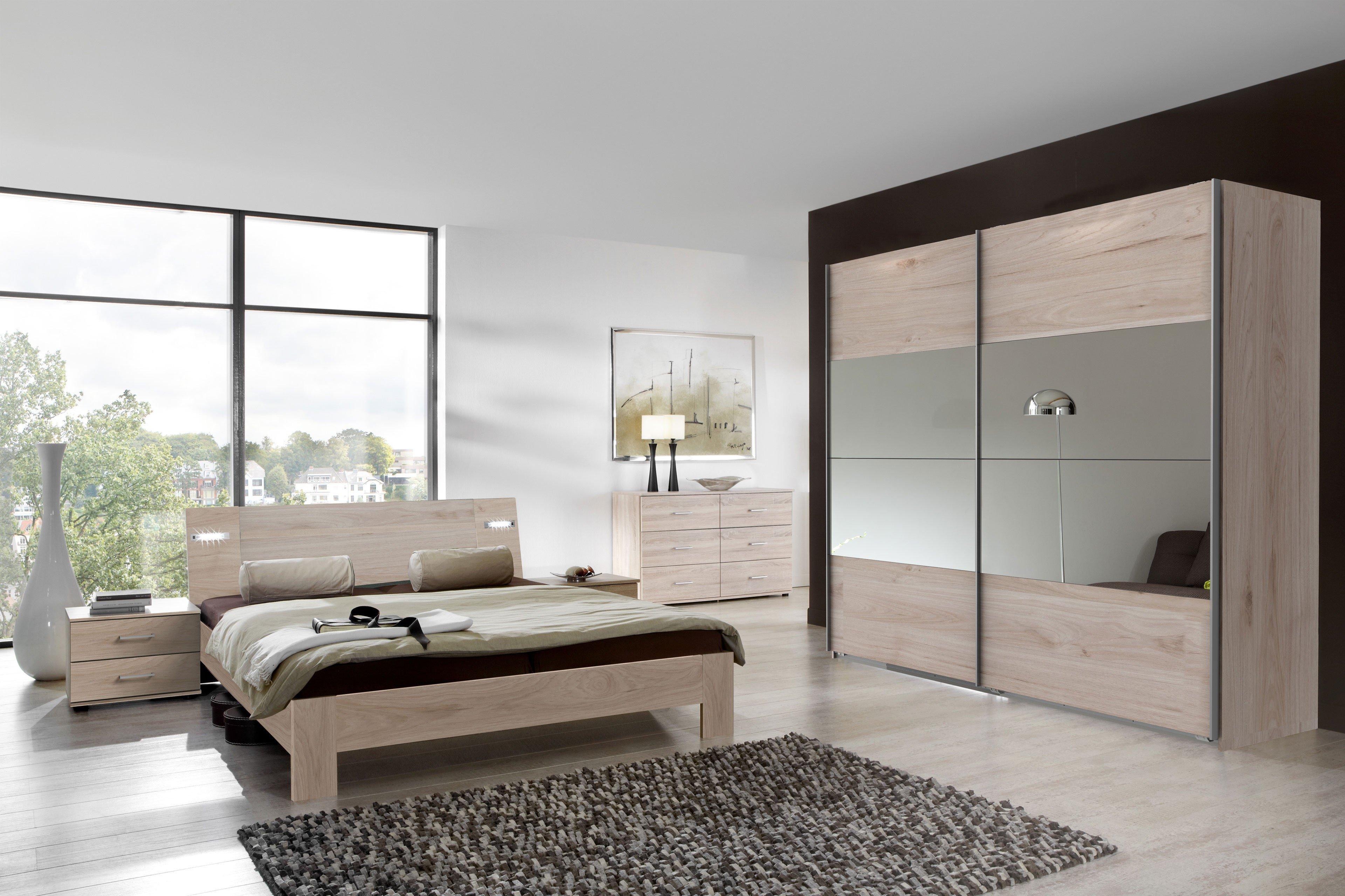 Neapel von wimex 4 teiliges schlafzimmer set hickory oak