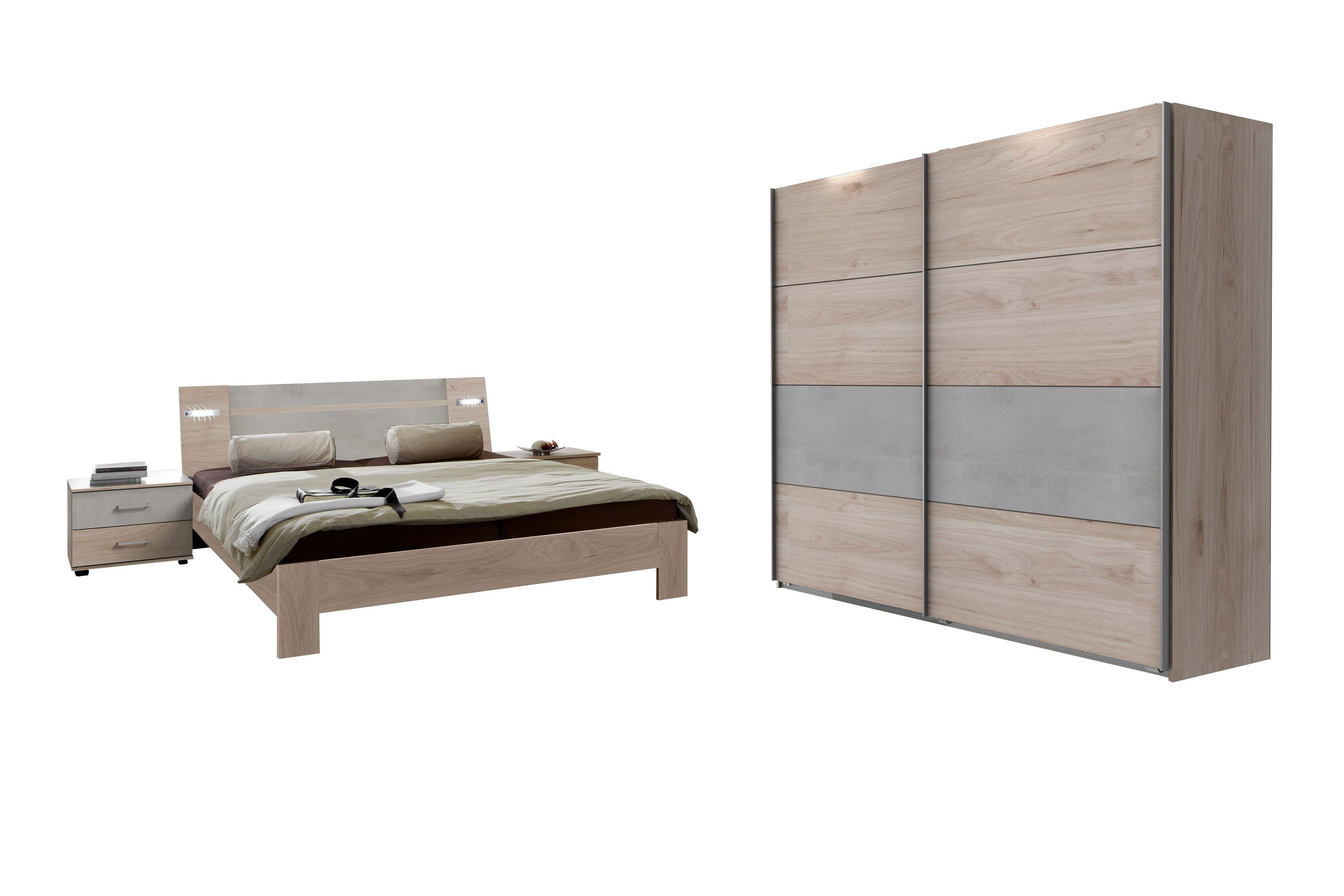 Neapel von wimex schlafzimmer set hickory oak lichtgrau