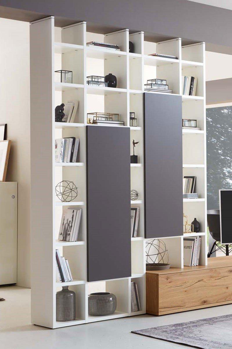 Se7000 Von Iro Einrichtungssysteme Wohnwand Weiss Grau Eiche
