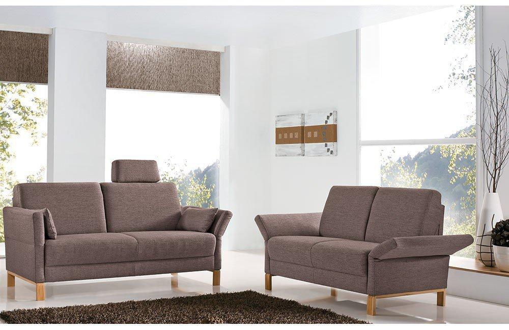 Ponsel Almera 3-2-1-Garnitur braun | Möbel Letz - Ihr Online-Shop