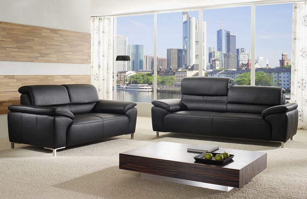 ponsel milano ledergarnitur schwarz m bel letz ihr online shop. Black Bedroom Furniture Sets. Home Design Ideas